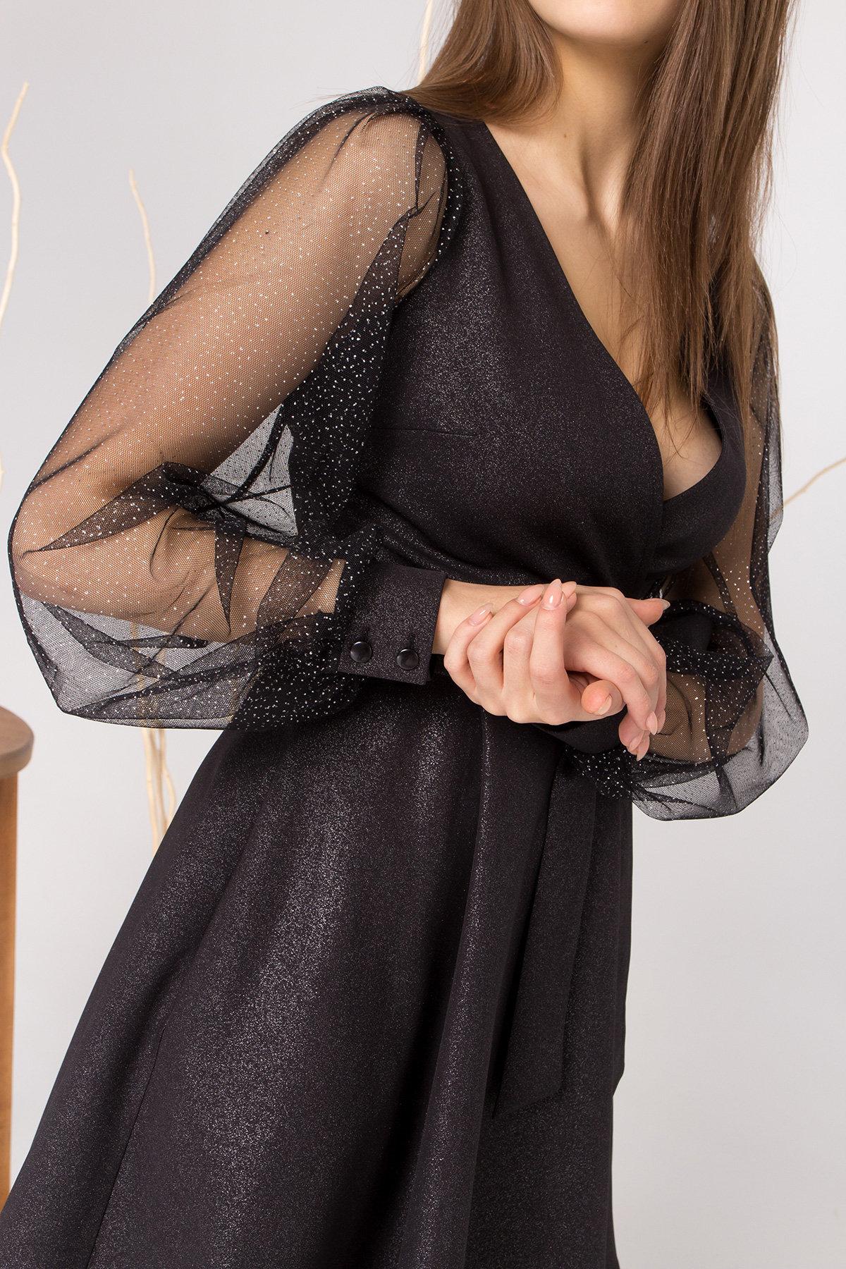 Коктейльное платье Джелла 8873 АРТ. 45202 Цвет: Черный - фото 4, интернет магазин tm-modus.ru