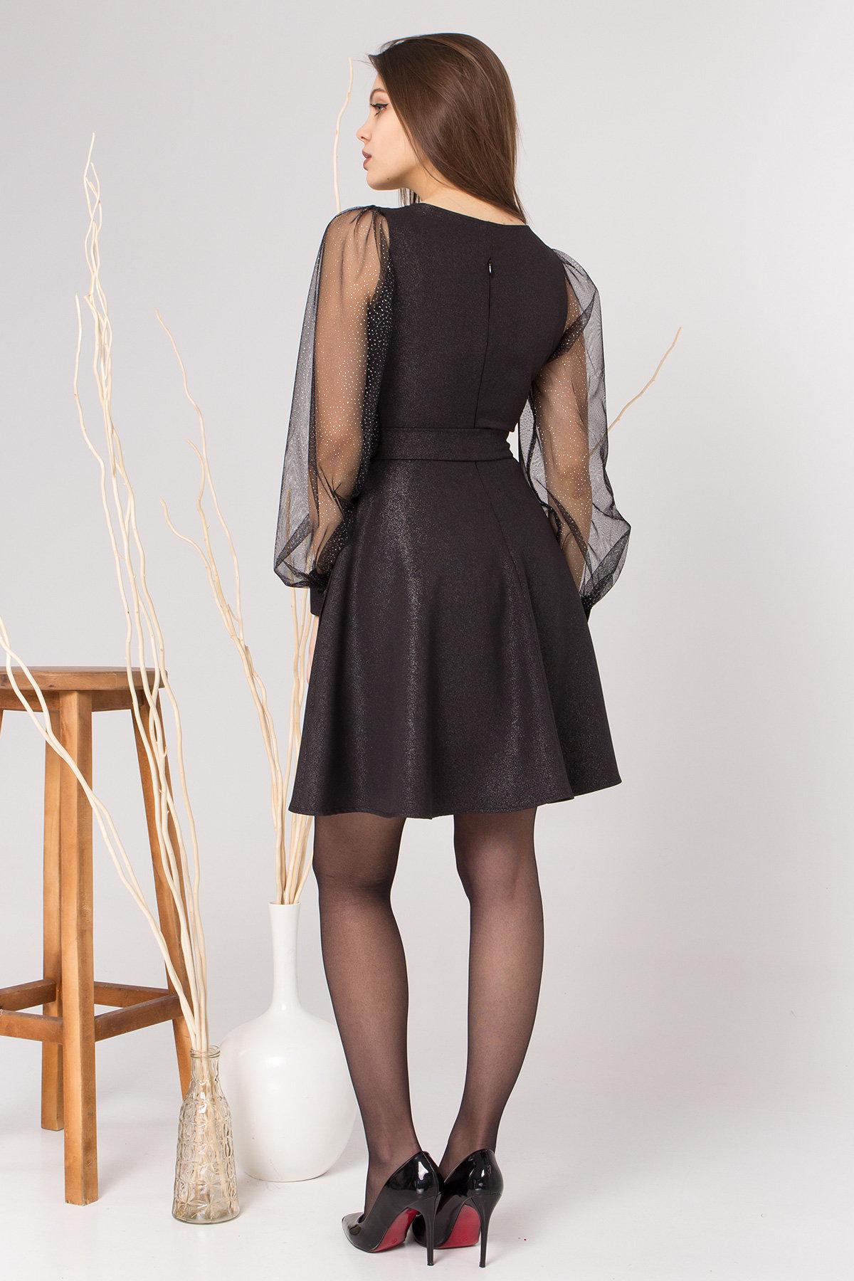 Коктейльное платье Джелла 8873 АРТ. 45202 Цвет: Черный - фото 5, интернет магазин tm-modus.ru