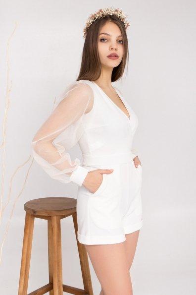 Купити Набель Костюмка креп стрейч с напылением + сетка с блестками платье 8877 оптом і в роздріб