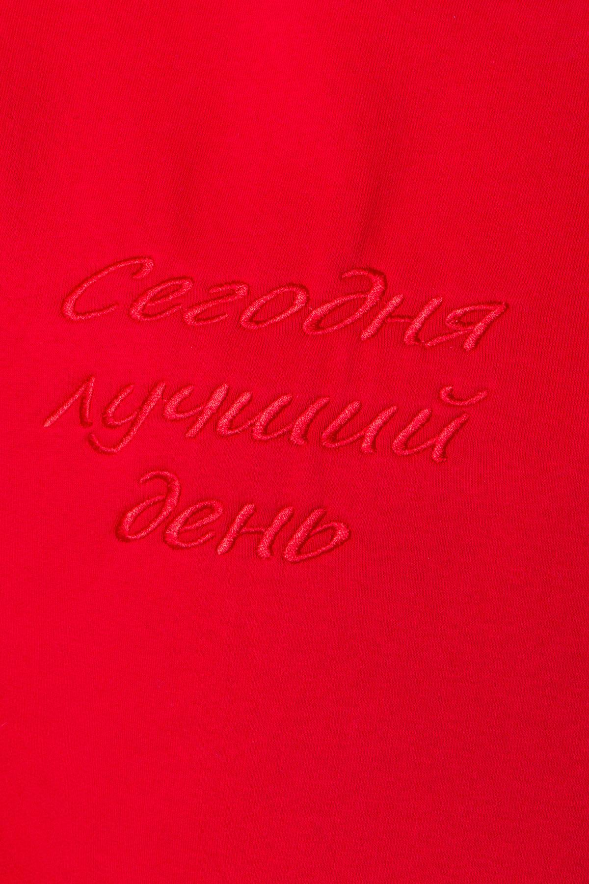 Стильный свитшот из трикотажа Джава 8706 АРТ. 45106 Цвет: Красный - фото 3, интернет магазин tm-modus.ru