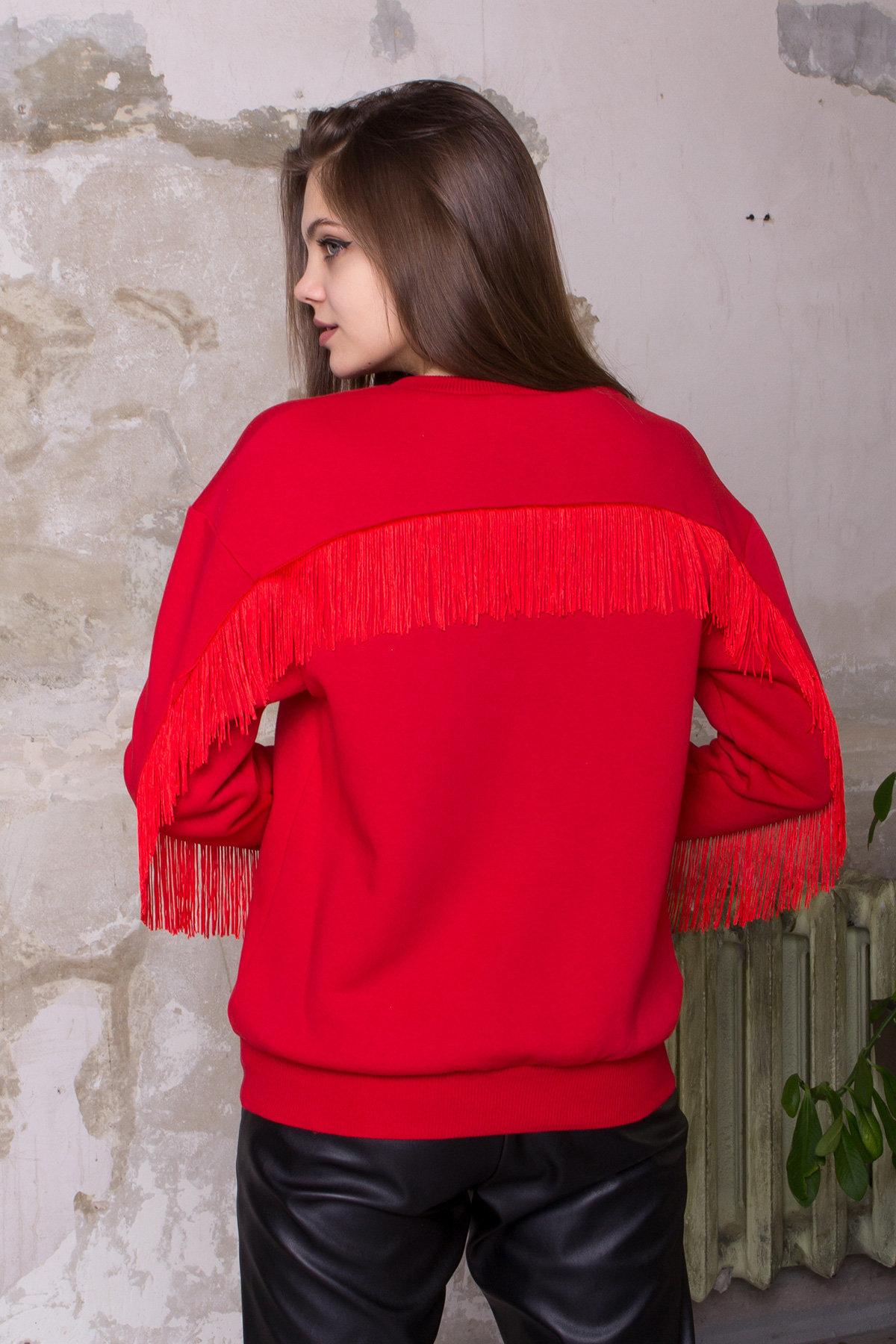 Стильный свитшот из трикотажа Джава 8706 АРТ. 45106 Цвет: Красный - фото 4, интернет магазин tm-modus.ru