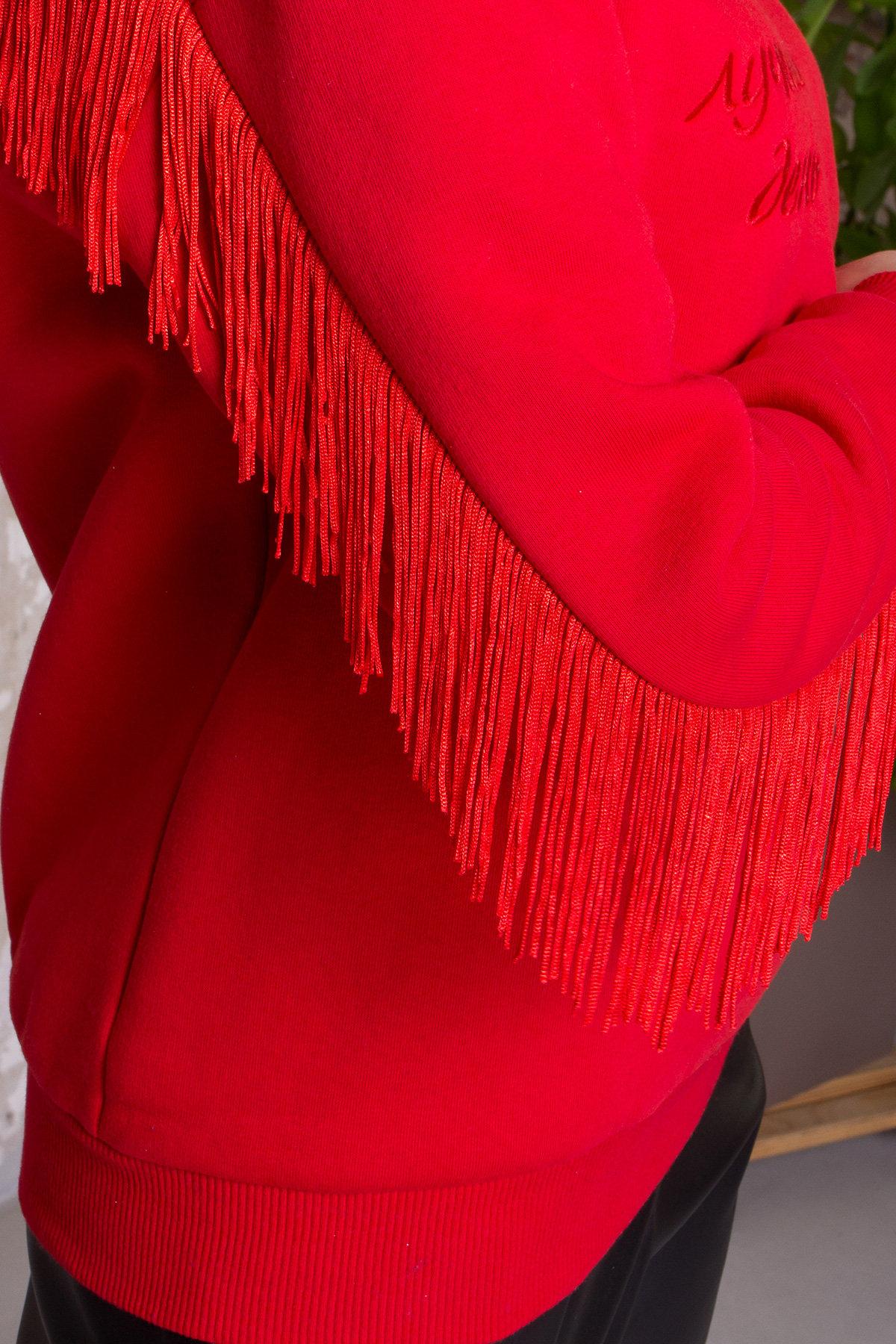 Стильный свитшот из трикотажа Джава 8706 АРТ. 45106 Цвет: Красный - фото 5, интернет магазин tm-modus.ru