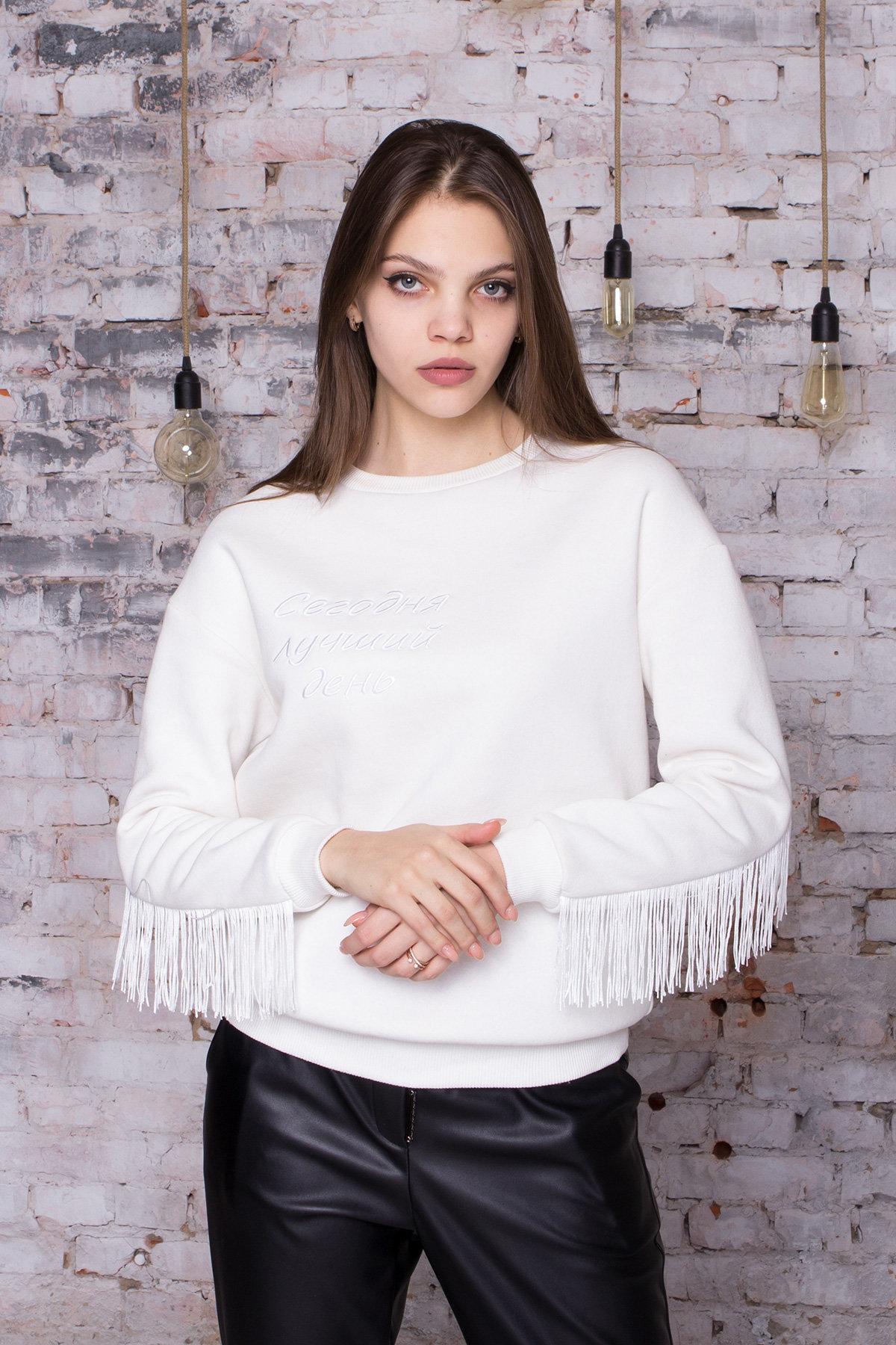 вязаные свитера для девушек Стильный свитшот из трикотажа Джава 8706
