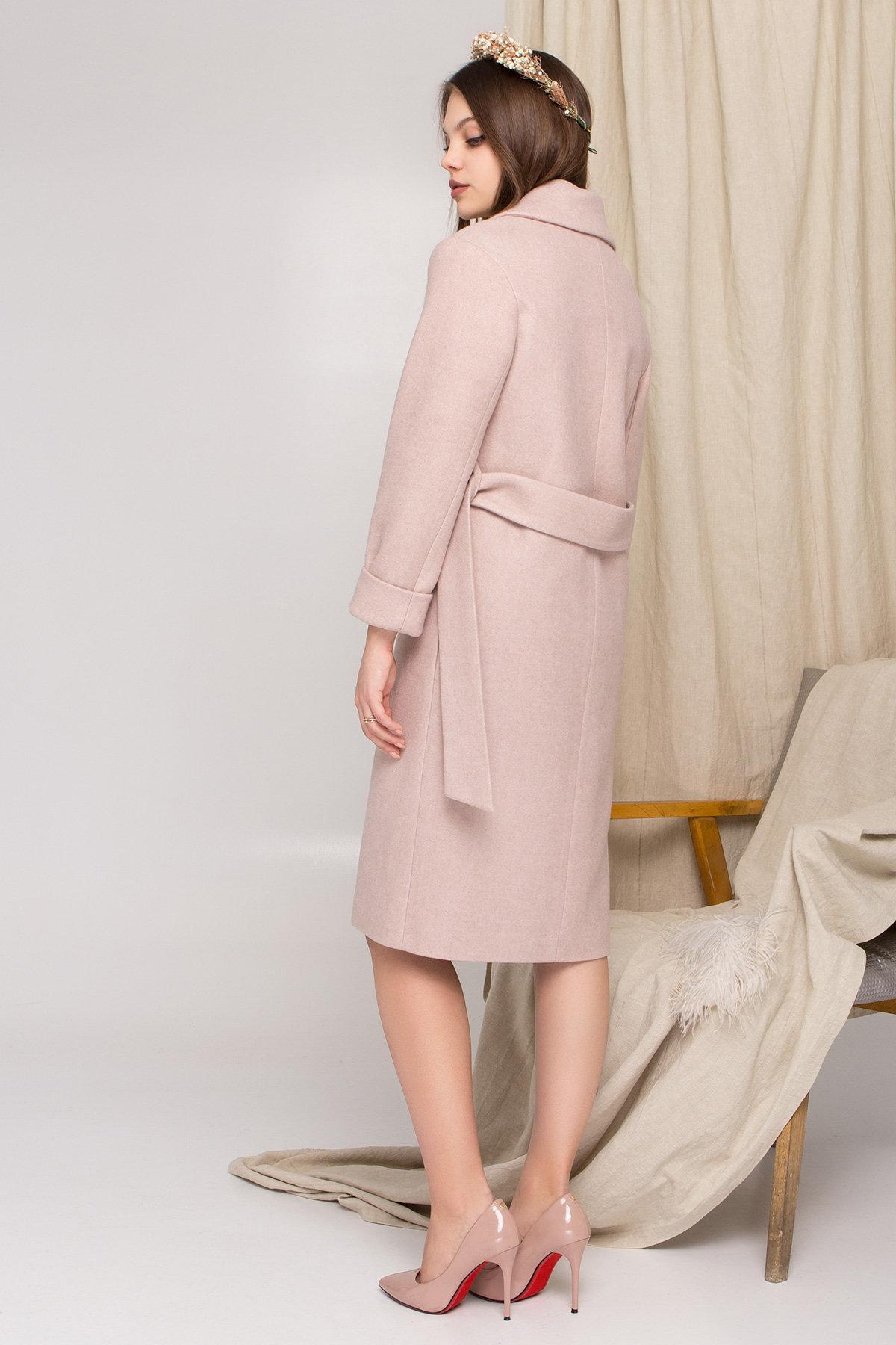 Стильное бежевое пальто Севен 8755 АРТ. 45112 Цвет: Бежевый меланж - фото 3, интернет магазин tm-modus.ru