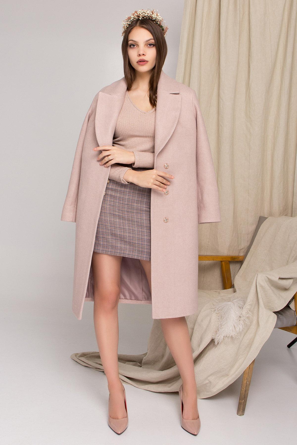 Стильное бежевое пальто Севен 8755 АРТ. 45112 Цвет: Бежевый меланж - фото 5, интернет магазин tm-modus.ru