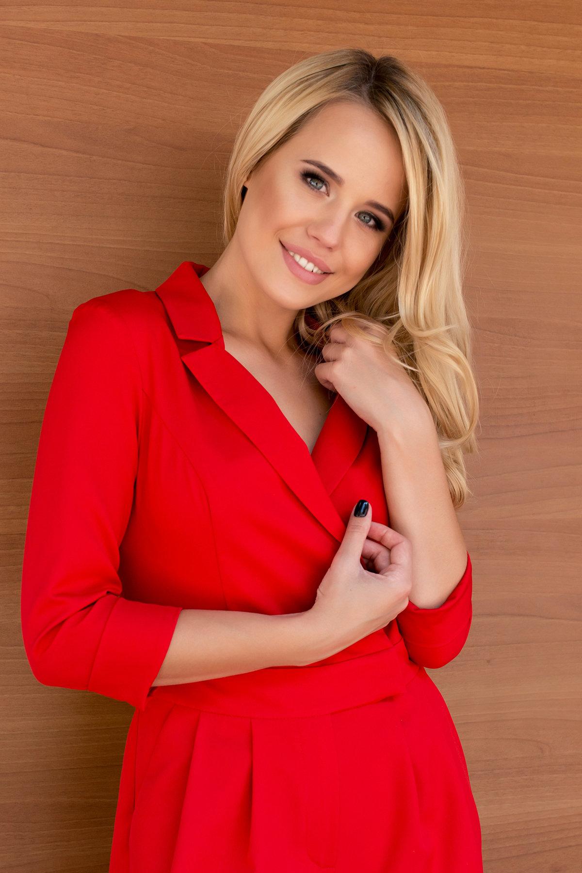 Женский брючный комбинезон Гренада 8816 Цвет: Красный