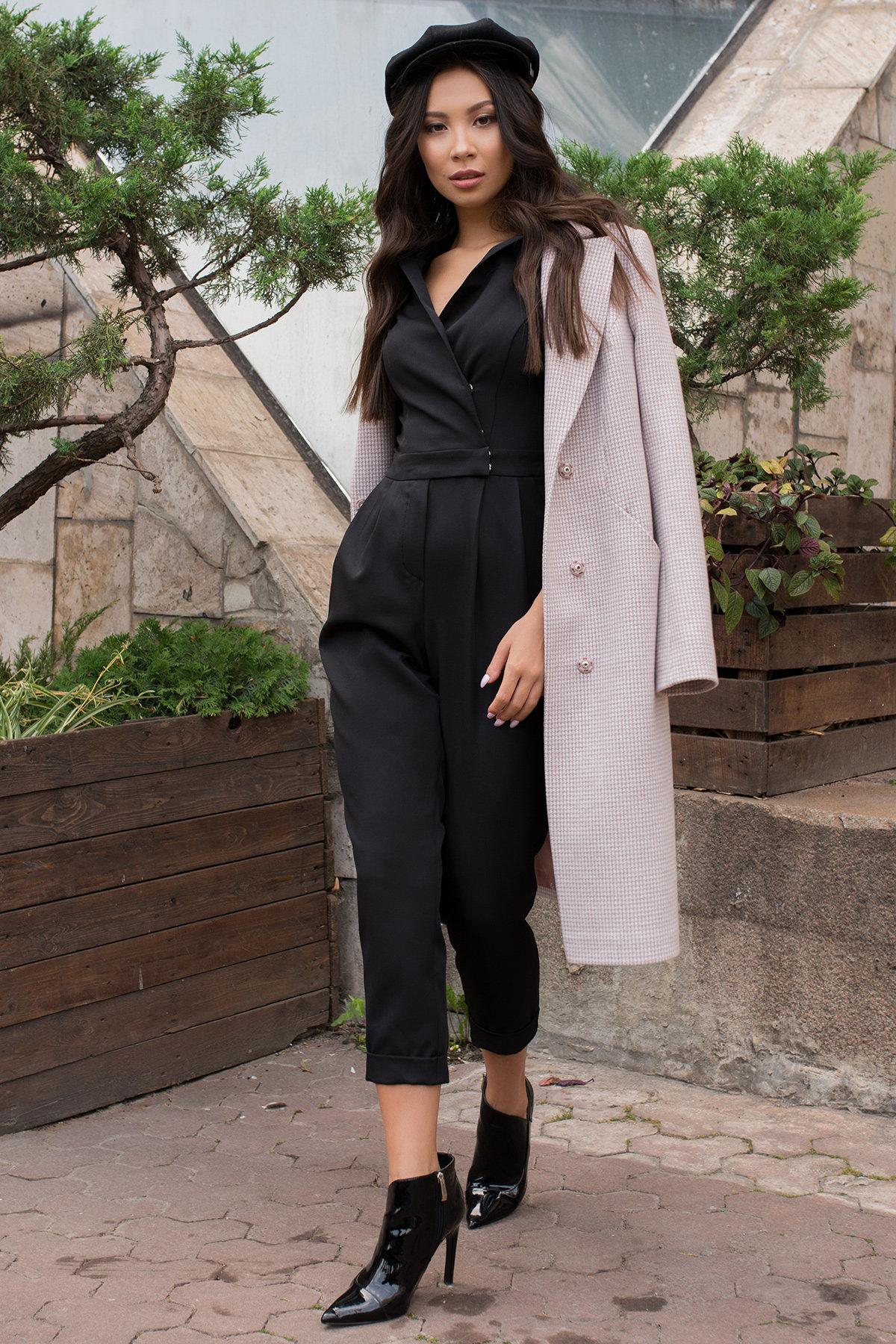 Женский брючный комбинезон Гренада 8816 АРТ. 45149 Цвет: Черный - фото 4, интернет магазин tm-modus.ru