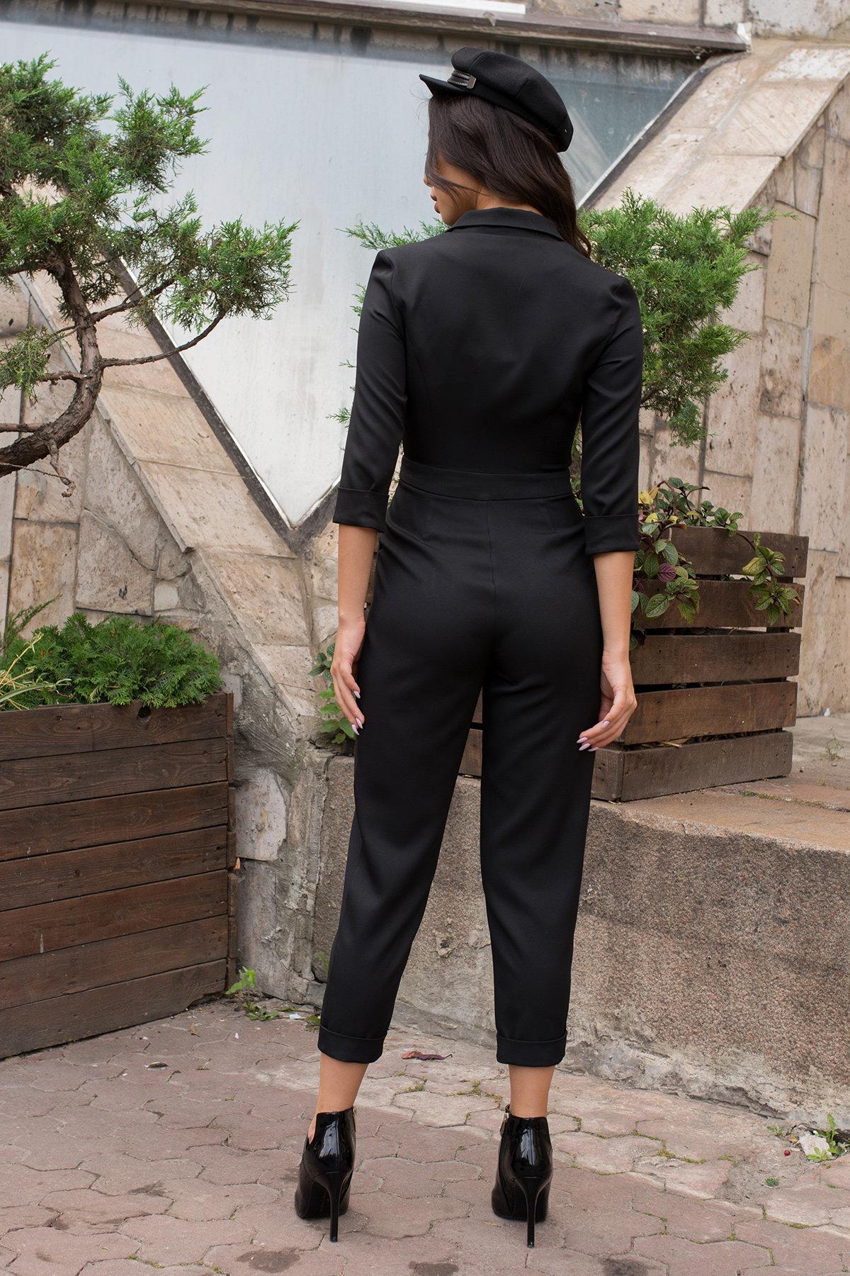 Женский брючный комбинезон Гренада 8816 АРТ. 45149 Цвет: Черный - фото 3, интернет магазин tm-modus.ru