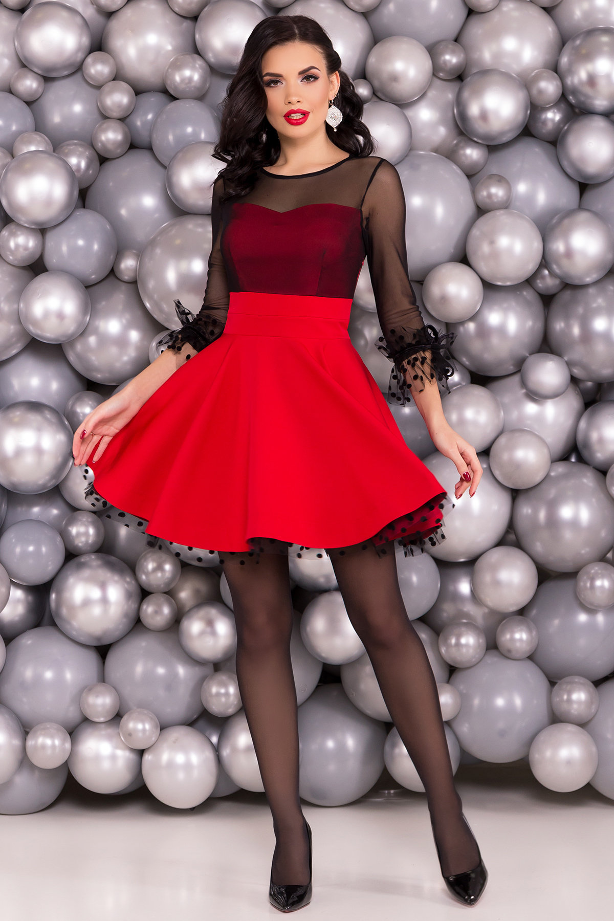 Трикотажные платья оптом Нарядное платье Адриана 6022
