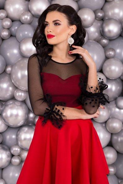 Нарядное платье Адриана 6022 Цвет: Красный/черный