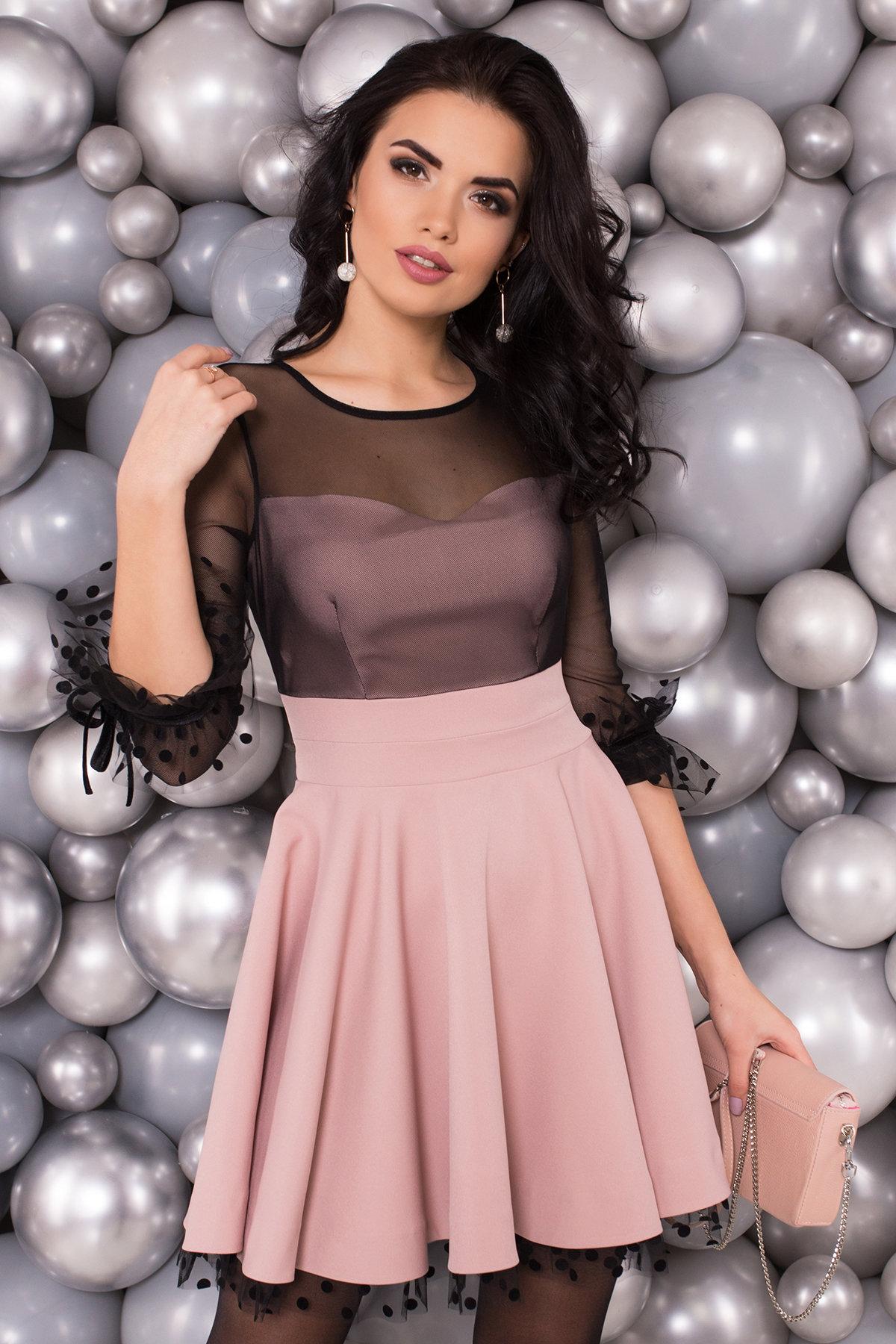 Нарядное платье Адриана 6022 АРТ. 45120 Цвет: Пудра/Черный - фото 4, интернет магазин tm-modus.ru