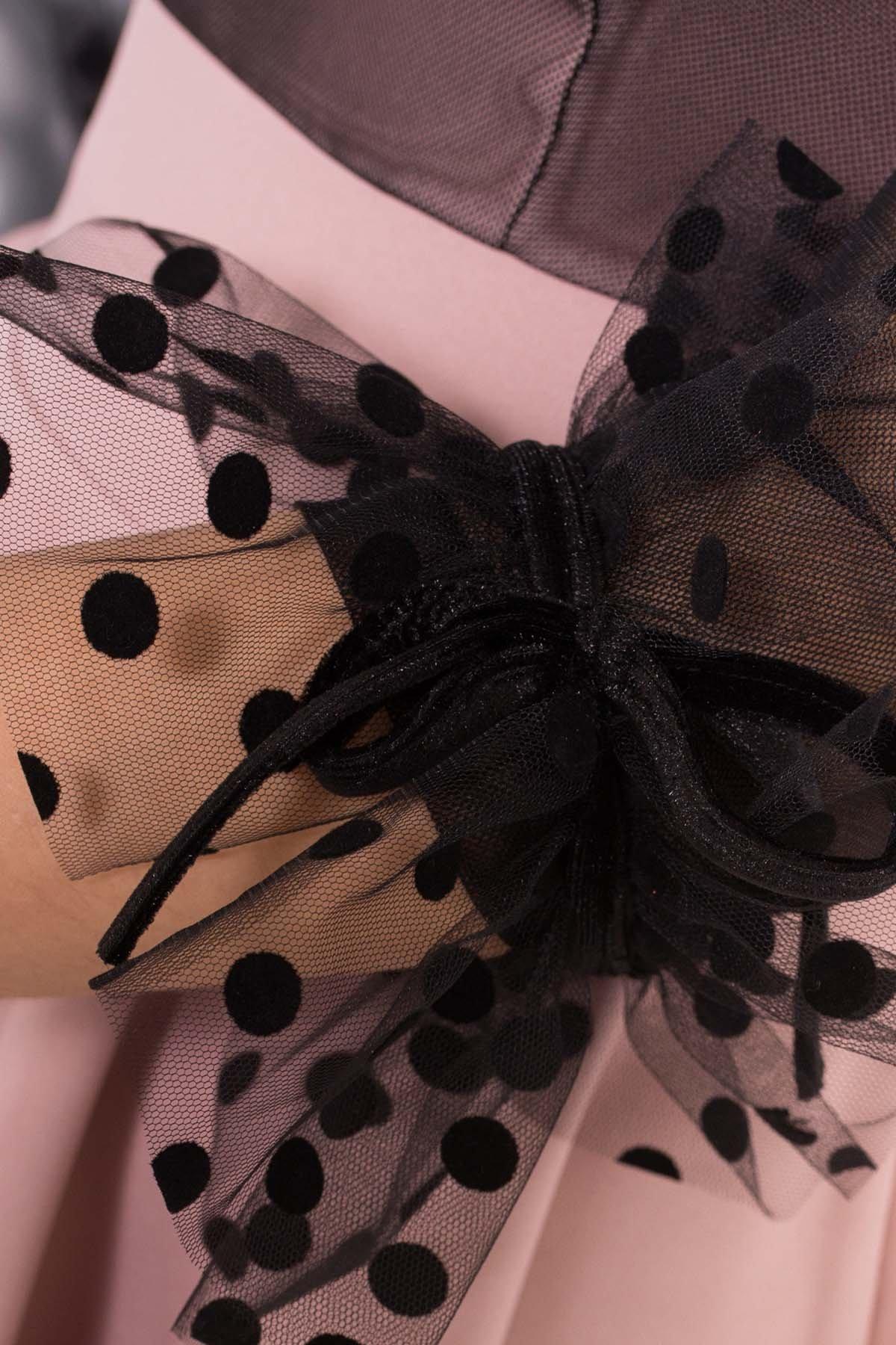 Нарядное платье Адриана 6022 АРТ. 45120 Цвет: Пудра/Черный - фото 3, интернет магазин tm-modus.ru