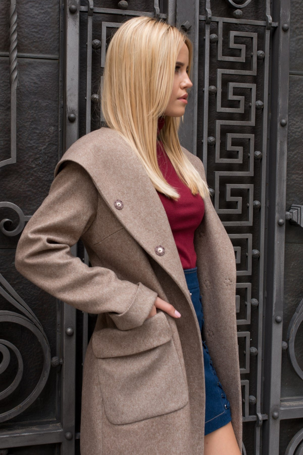 Пальто Анджи 7806 АРТ. 45168 Цвет: Капучино 31 - фото 1, интернет магазин tm-modus.ru