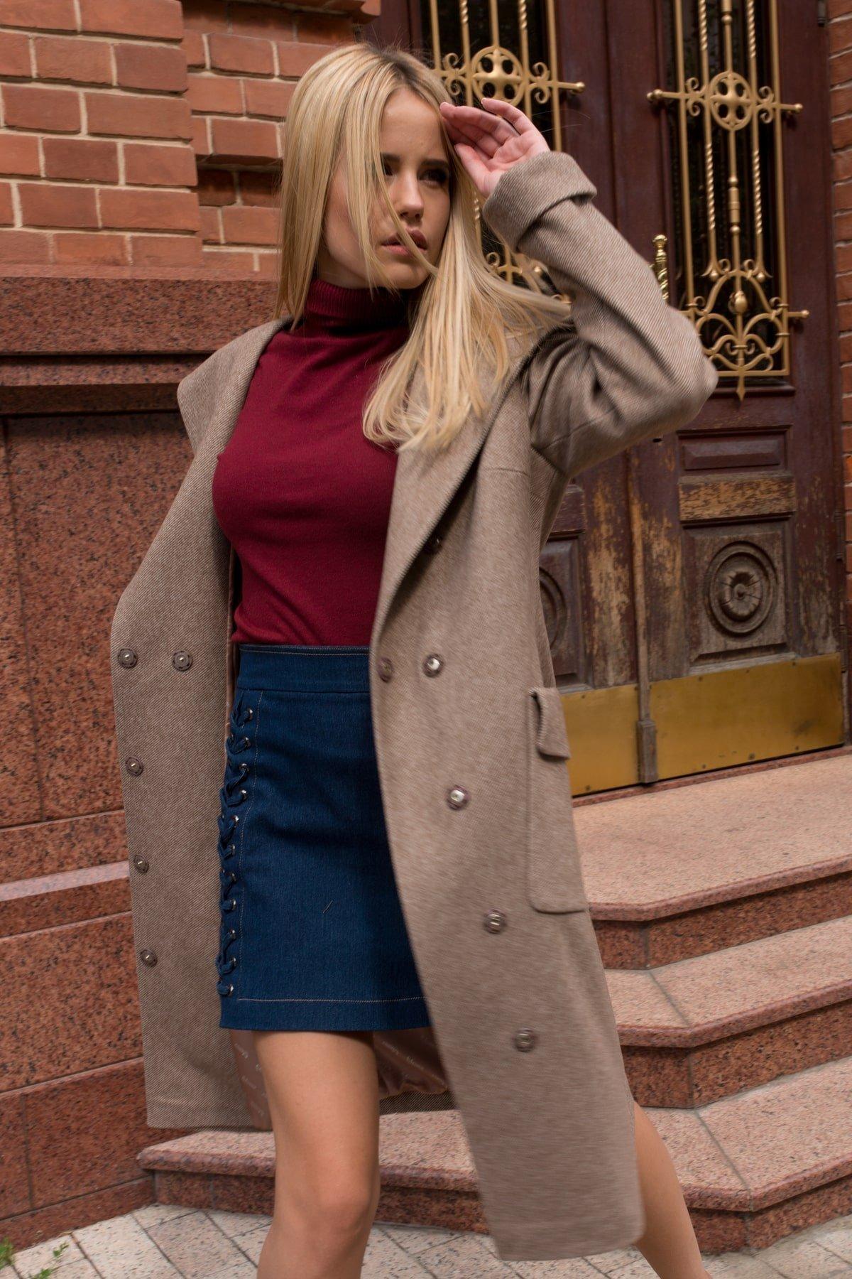 Пальто Анджи 7806 АРТ. 45168 Цвет: Капучино 31 - фото 4, интернет магазин tm-modus.ru