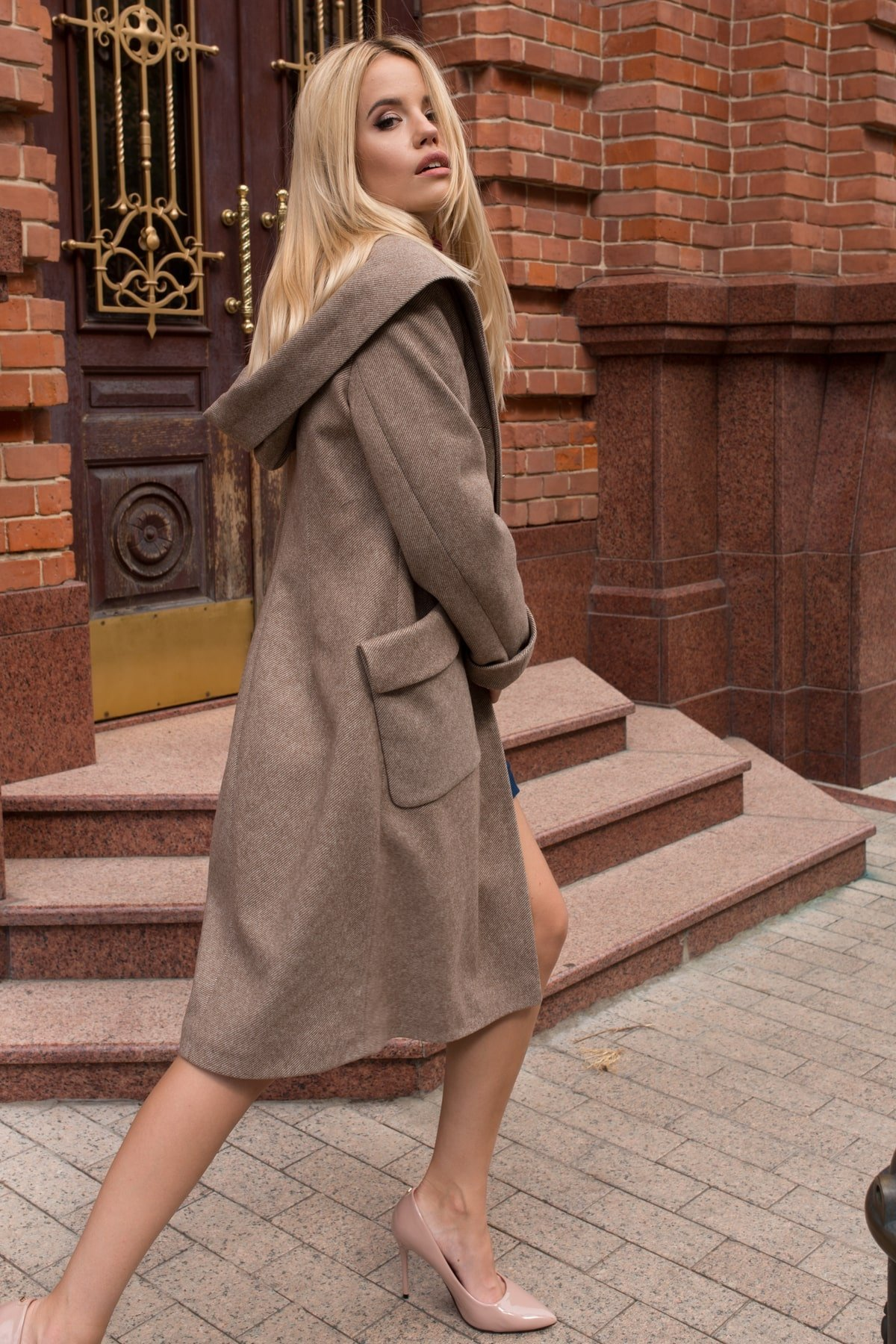Пальто Анджи 7806 АРТ. 45168 Цвет: Капучино 31 - фото 5, интернет магазин tm-modus.ru