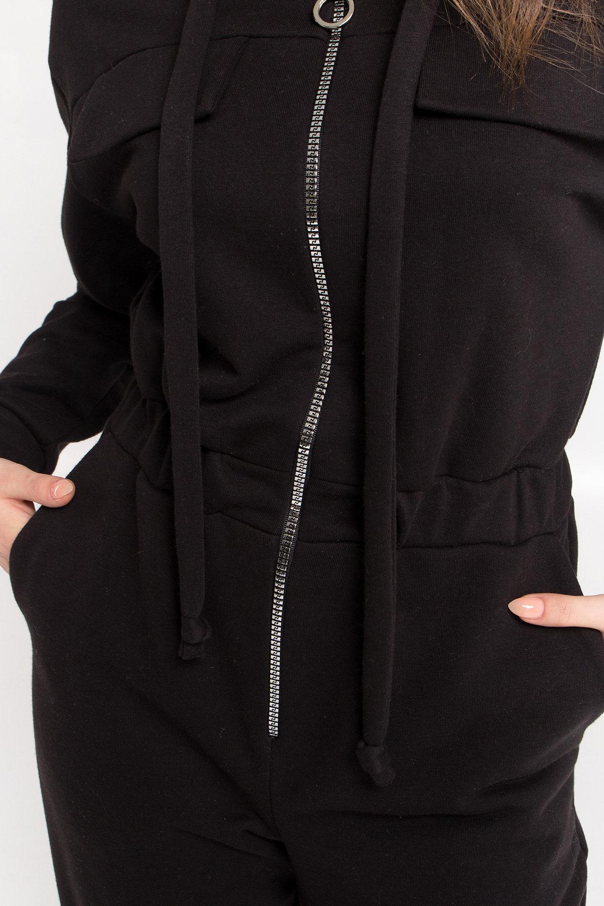 Стильный брючный комбинезон Толедо  8951 АРТ. 45262 Цвет: Черный - фото 6, интернет магазин tm-modus.ru