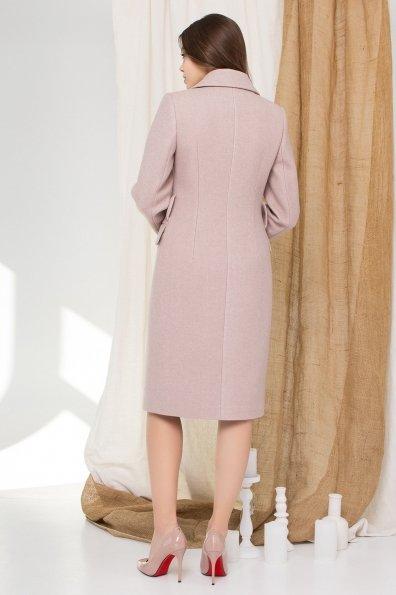 Демисезонное пальто миди длины Лабио 8827 Цвет: Бежевый меланж
