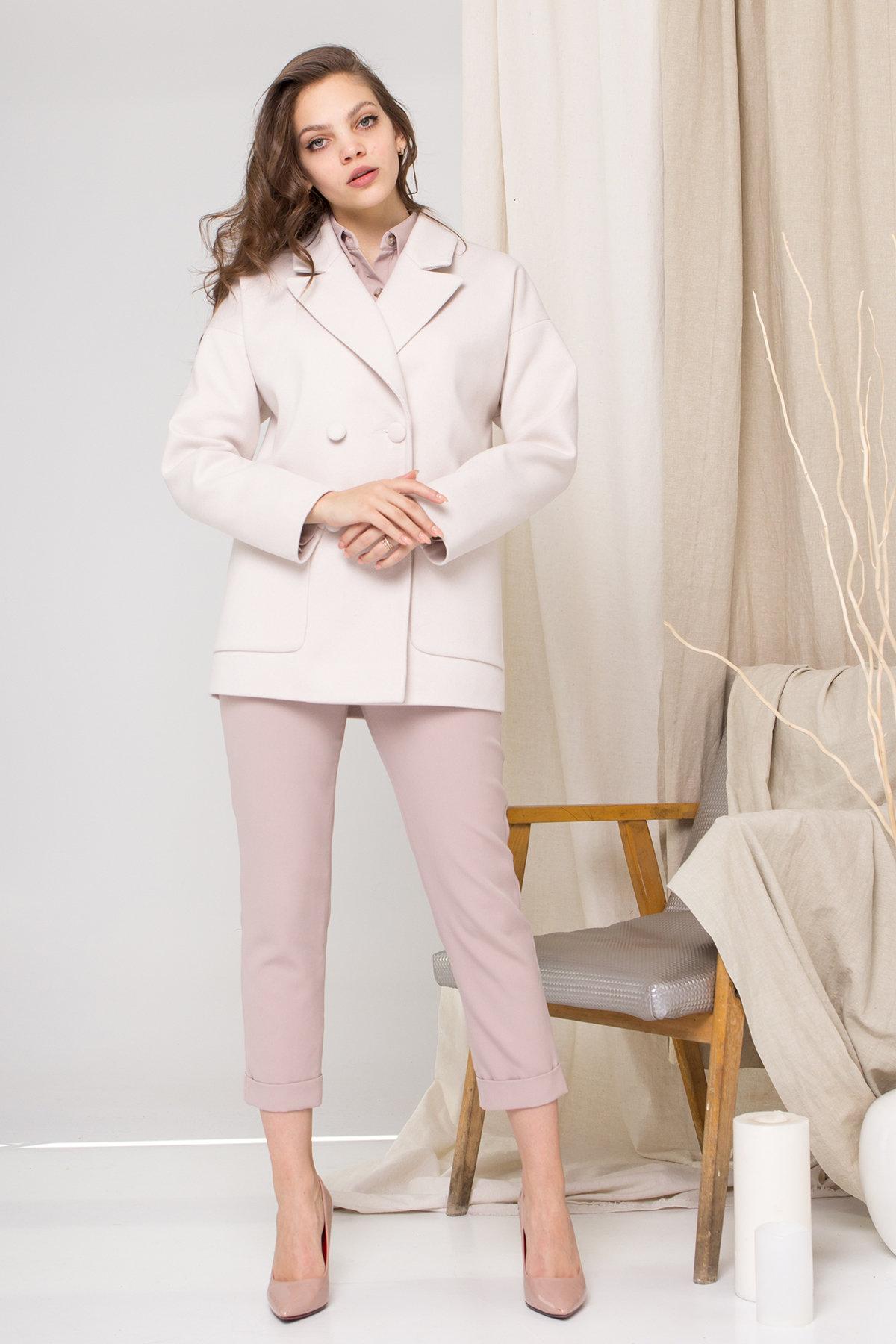 Пальто Мансера 8987 АРТ. 45302 Цвет: Бежевый Светлый - фото 1, интернет магазин tm-modus.ru