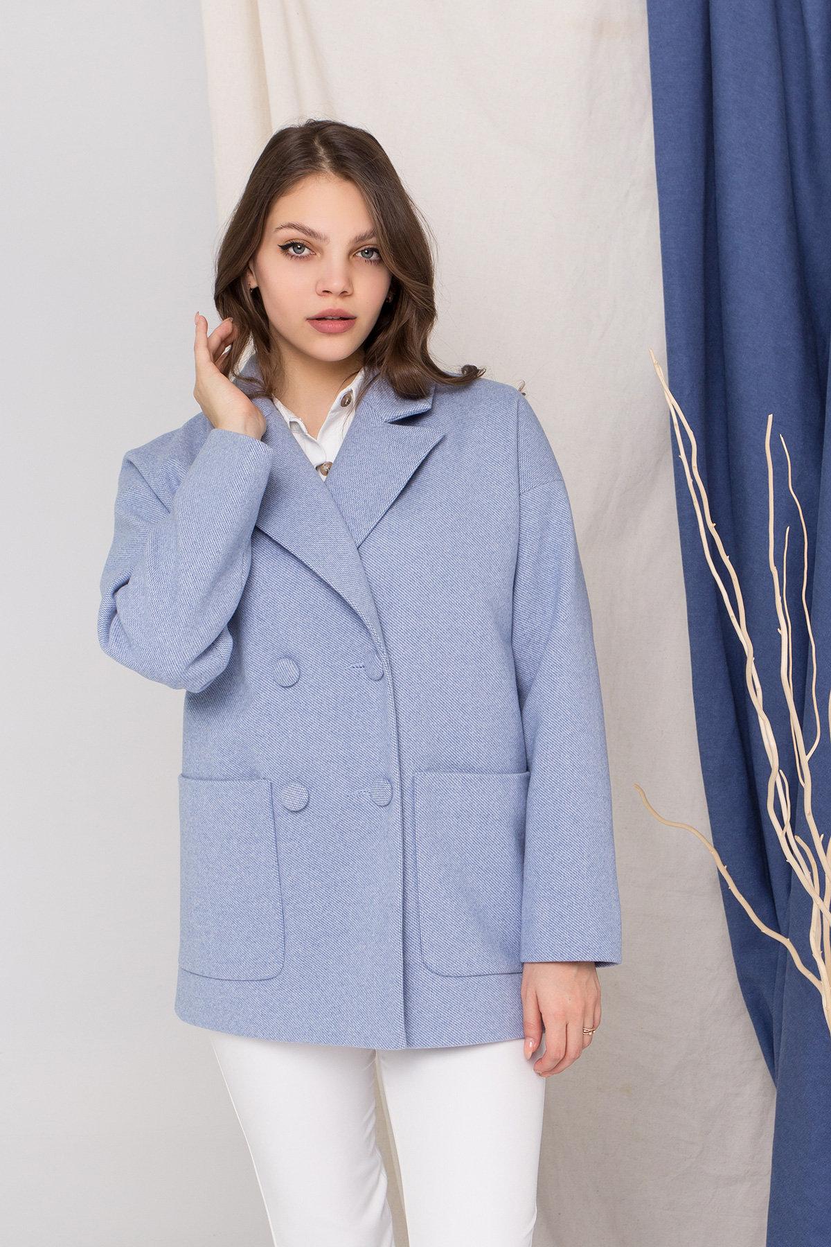 Пальто Мансера 8987 АРТ. 45304 Цвет: Голубой - фото 3, интернет магазин tm-modus.ru