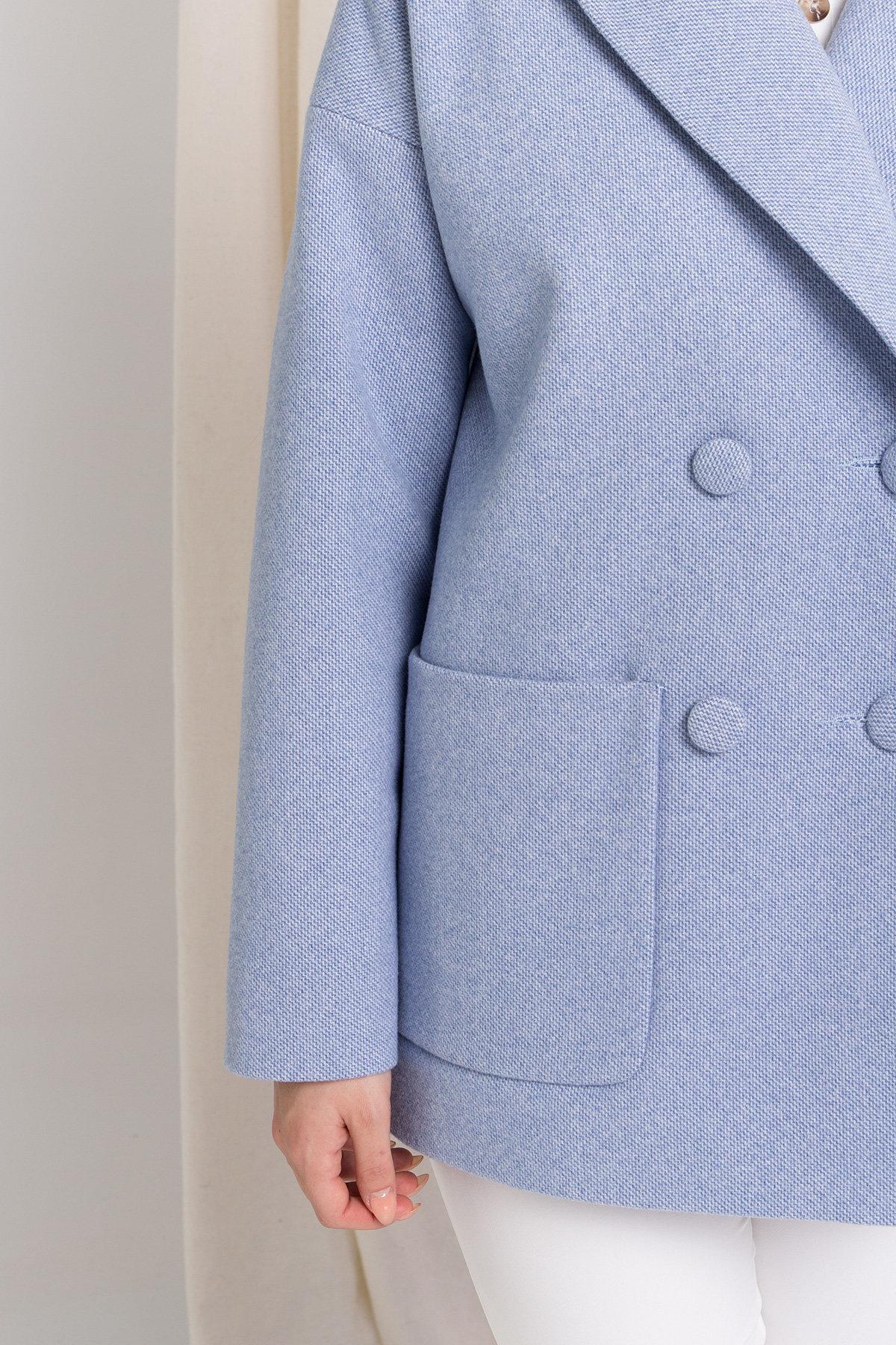 Пальто Мансера 8987 АРТ. 45304 Цвет: Голубой - фото 5, интернет магазин tm-modus.ru