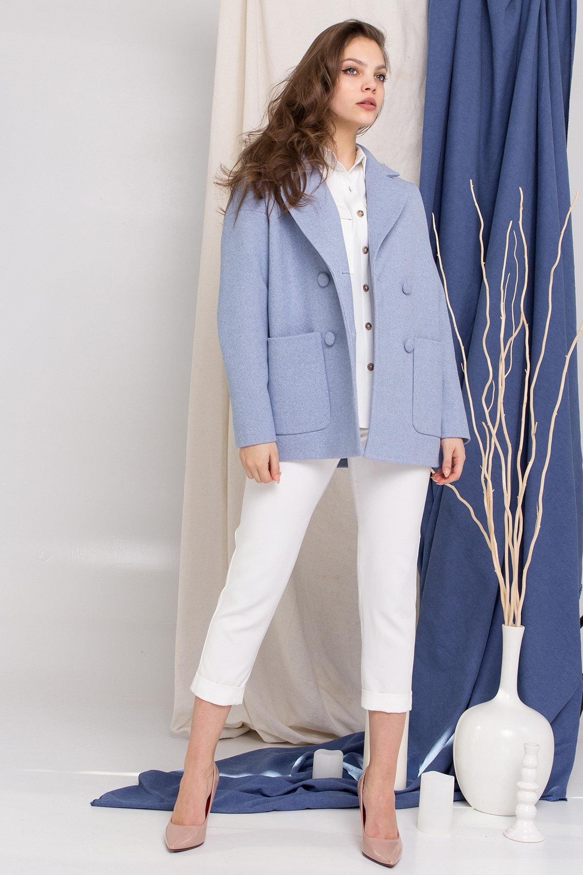Пальто Мансера 8987 АРТ. 45304 Цвет: Голубой - фото 6, интернет магазин tm-modus.ru