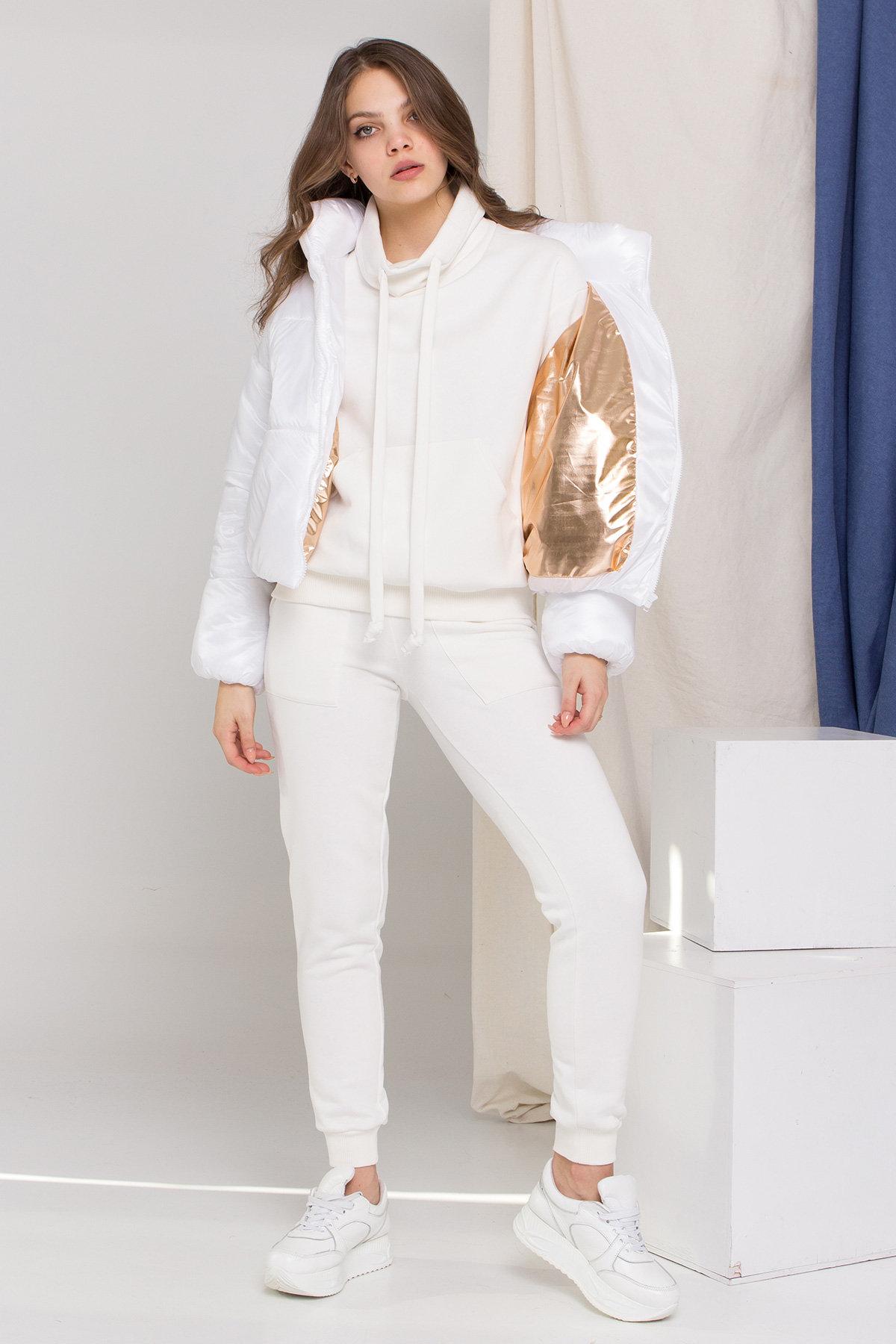 Куртка Драйв 8989 АРТ. 45295 Цвет: Белый - фото 1, интернет магазин tm-modus.ru