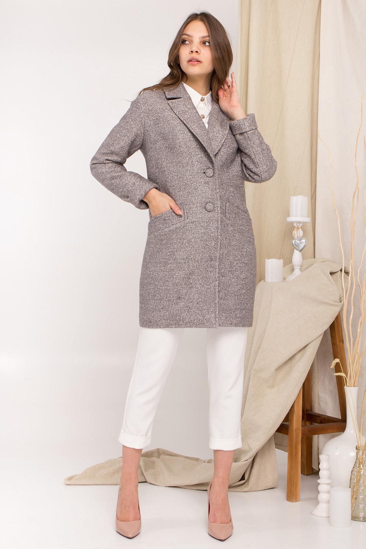 Пальто Вейсона 9042 АРТ. 45364 Цвет: Серый Светлый 20 - фото 1, интернет магазин tm-modus.ru