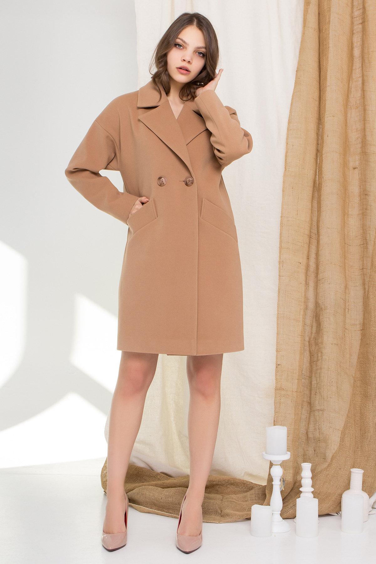 Пальто Сенсей 9006 АРТ. 45318 Цвет: Кемел - фото 3, интернет магазин tm-modus.ru