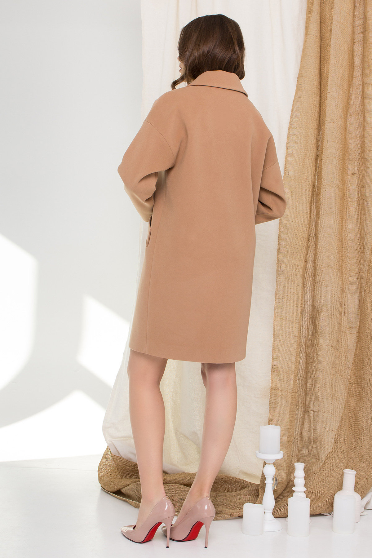 Пальто Сенсей 9006 АРТ. 45318 Цвет: Кемел - фото 6, интернет магазин tm-modus.ru