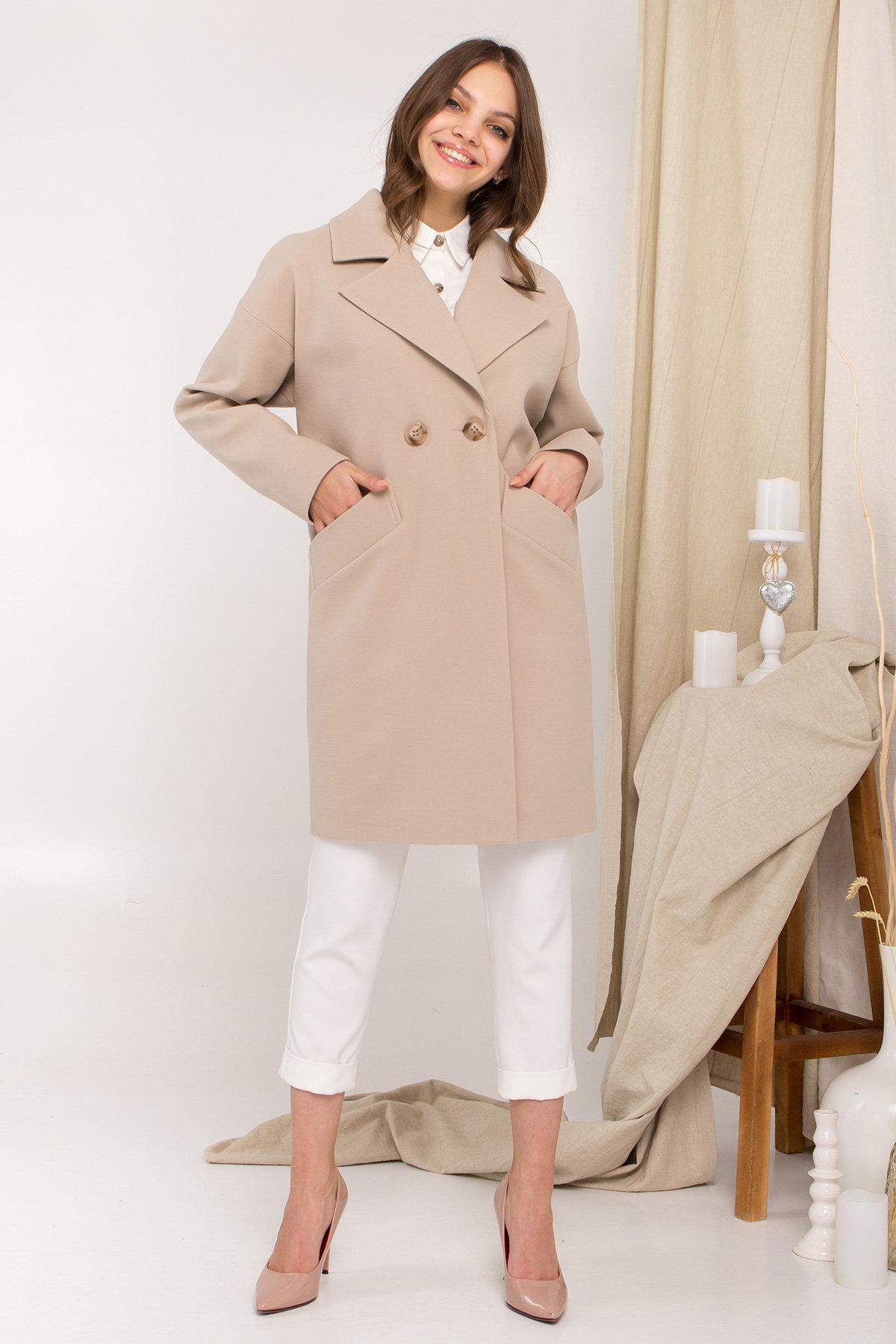 Пальто Сенсей 9006 АРТ. 45312 Цвет: Бежевый - фото 3, интернет магазин tm-modus.ru