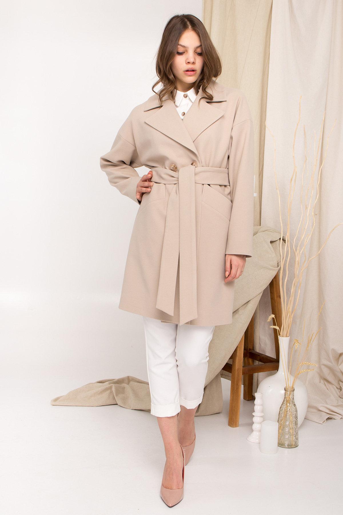 Пальто Сенсей 9006 АРТ. 45312 Цвет: Бежевый - фото 6, интернет магазин tm-modus.ru