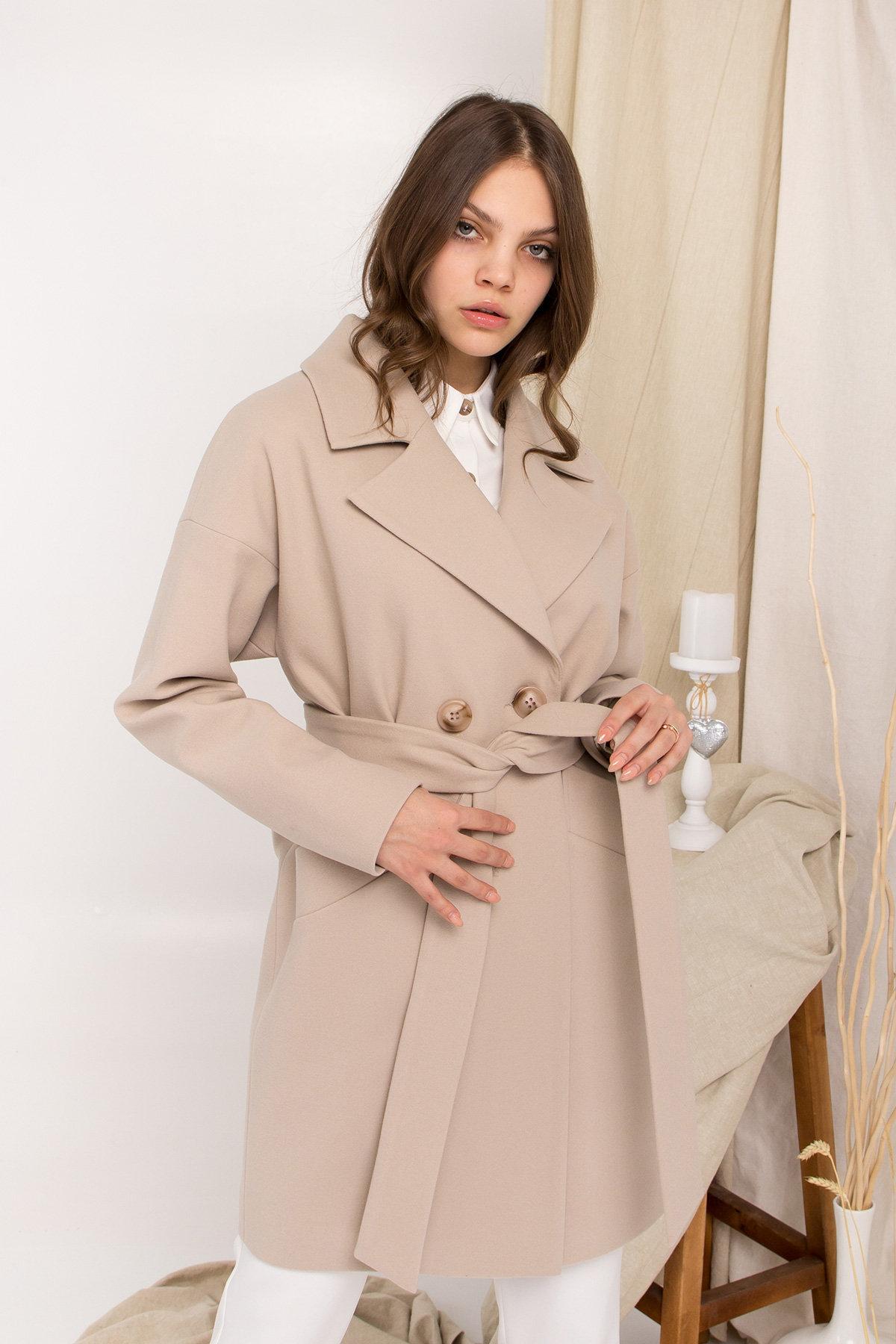 Пальто Сенсей 9006 АРТ. 45312 Цвет: Бежевый - фото 8, интернет магазин tm-modus.ru