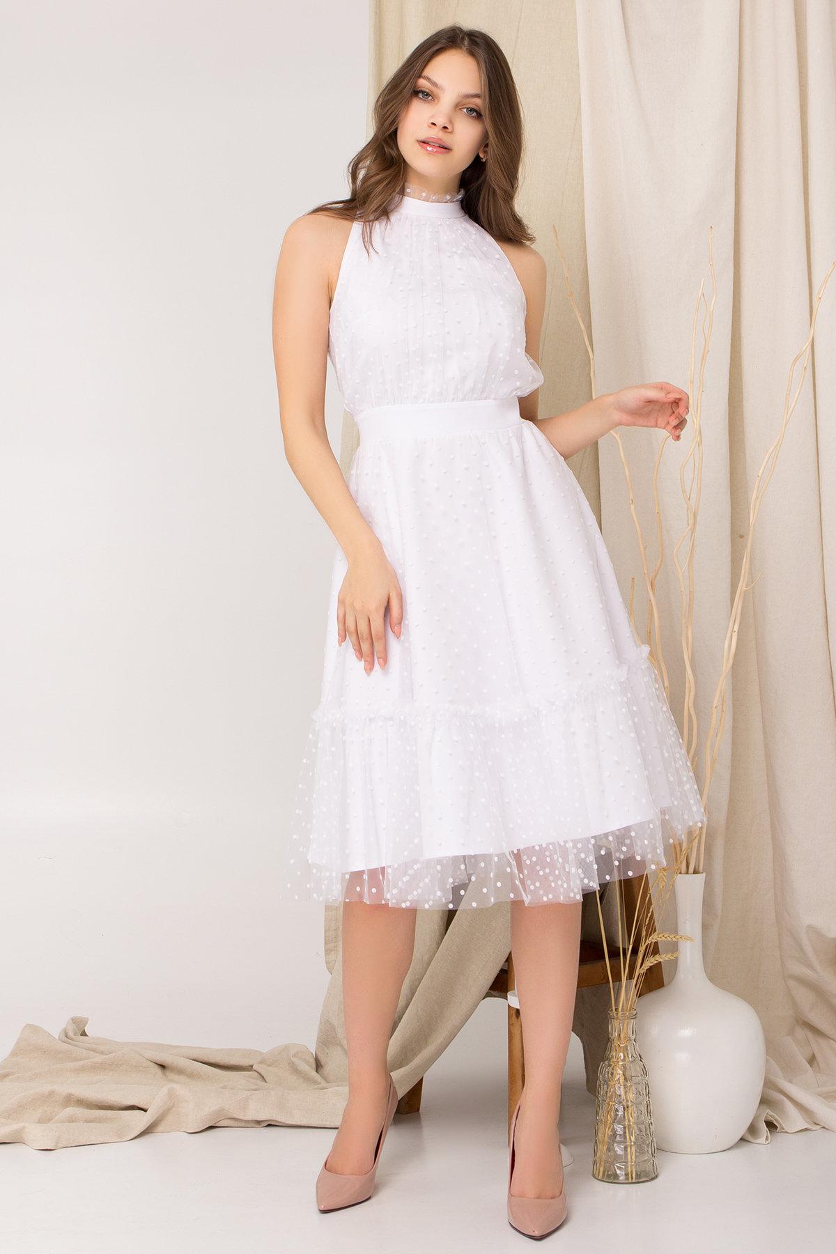 Платье Агния 8998 Цвет: Белый/белый