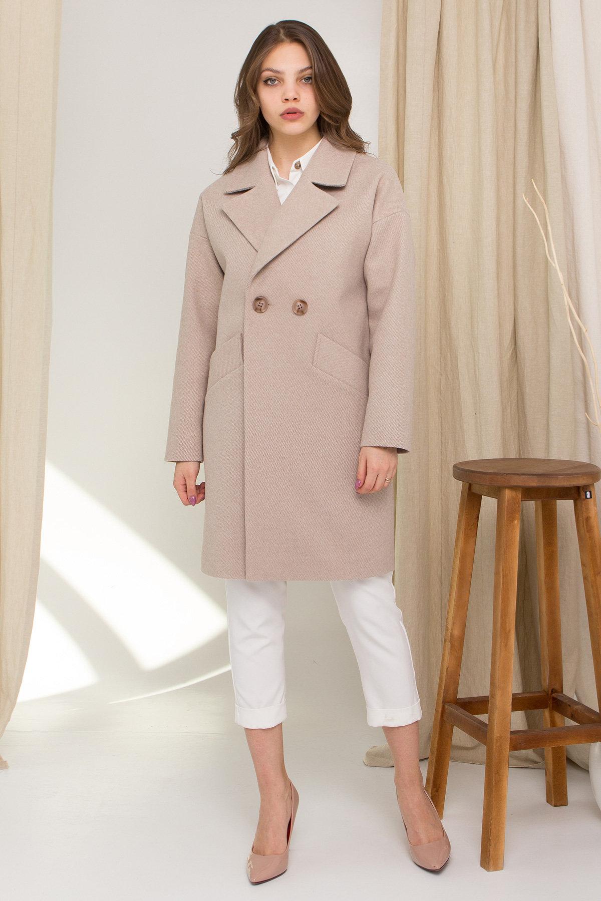 Пальто Сенсей 8907 АРТ. 45368 Цвет: Бежевый - фото 2, интернет магазин tm-modus.ru