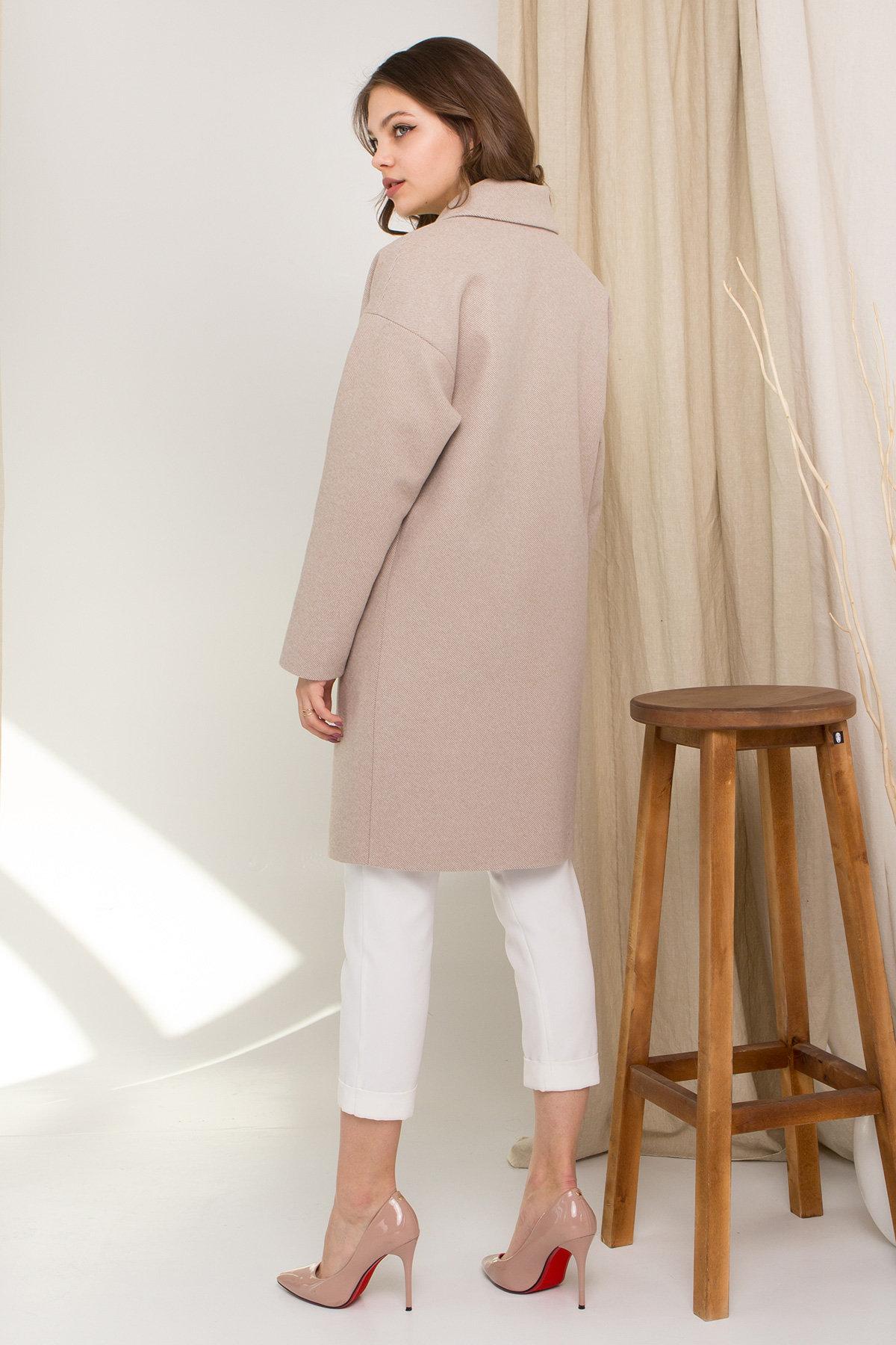 Пальто Сенсей 8907 АРТ. 45368 Цвет: Бежевый - фото 3, интернет магазин tm-modus.ru