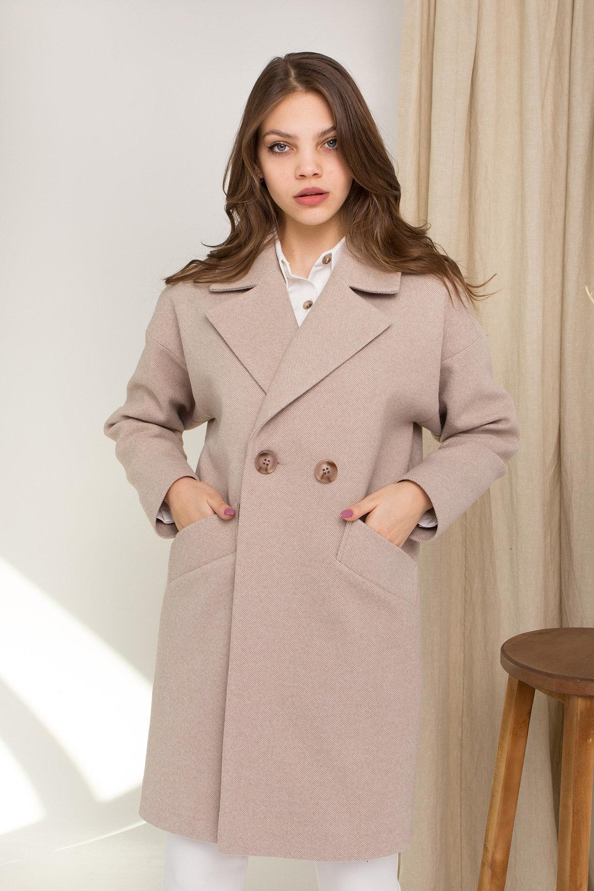 Пальто Сенсей 8907 АРТ. 45368 Цвет: Бежевый - фото 4, интернет магазин tm-modus.ru