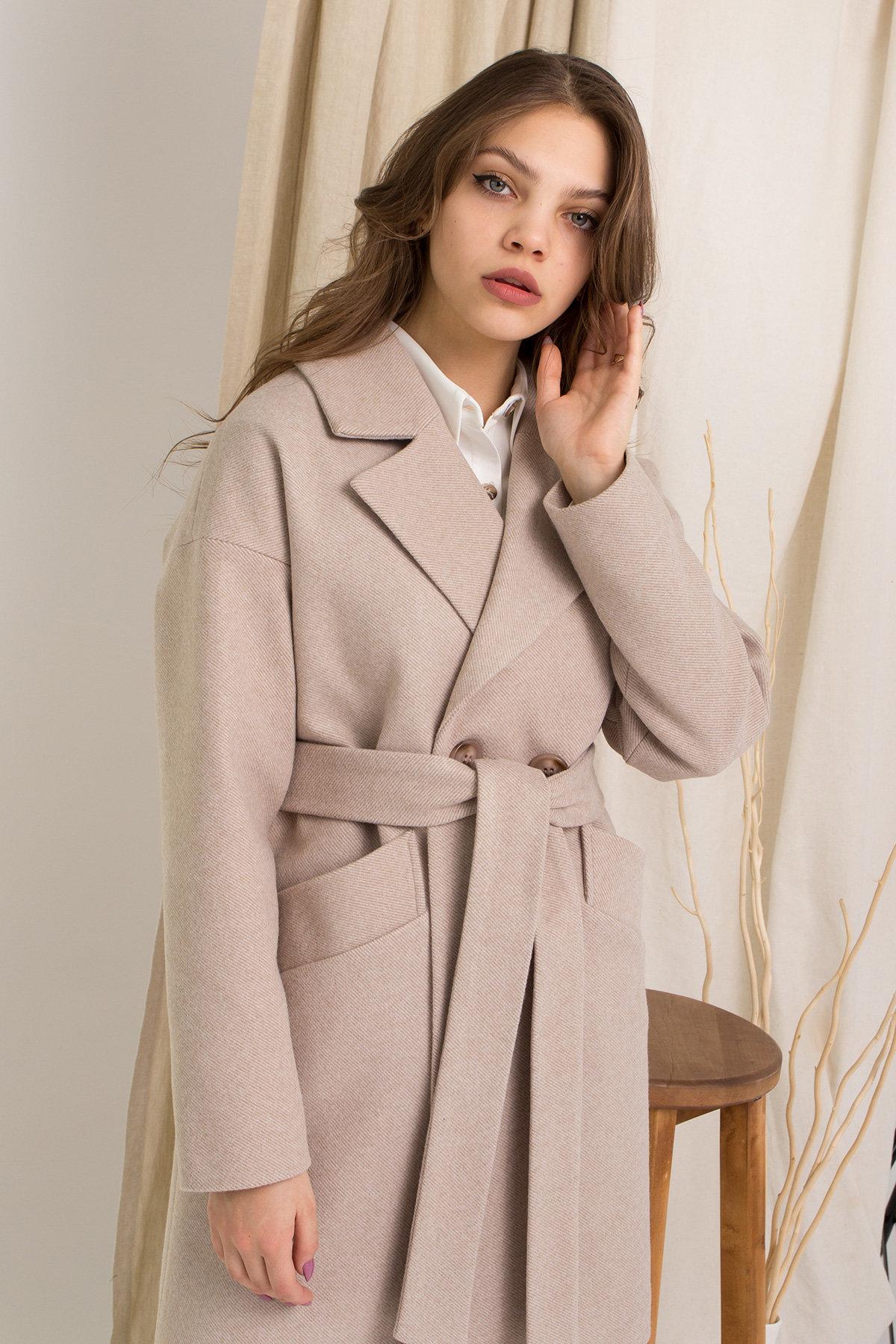 Пальто Сенсей 8907 АРТ. 45368 Цвет: Бежевый - фото 6, интернет магазин tm-modus.ru