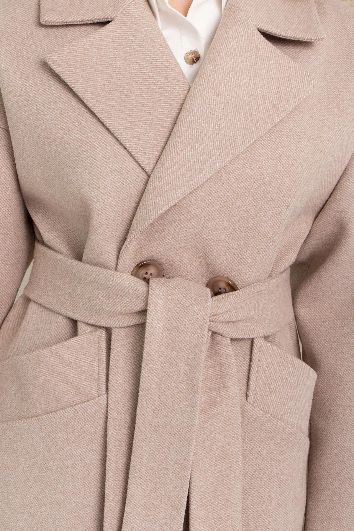 Пальто Сенсей 8907 АРТ. 45368 Цвет: Бежевый - фото 7, интернет магазин tm-modus.ru