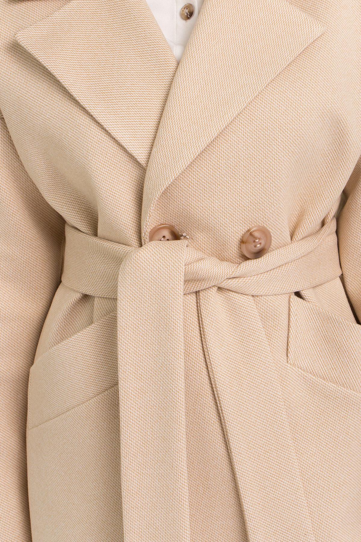 Пальто Сенсей 9055 АРТ. 45370 Цвет: Бежевый - фото 6, интернет магазин tm-modus.ru