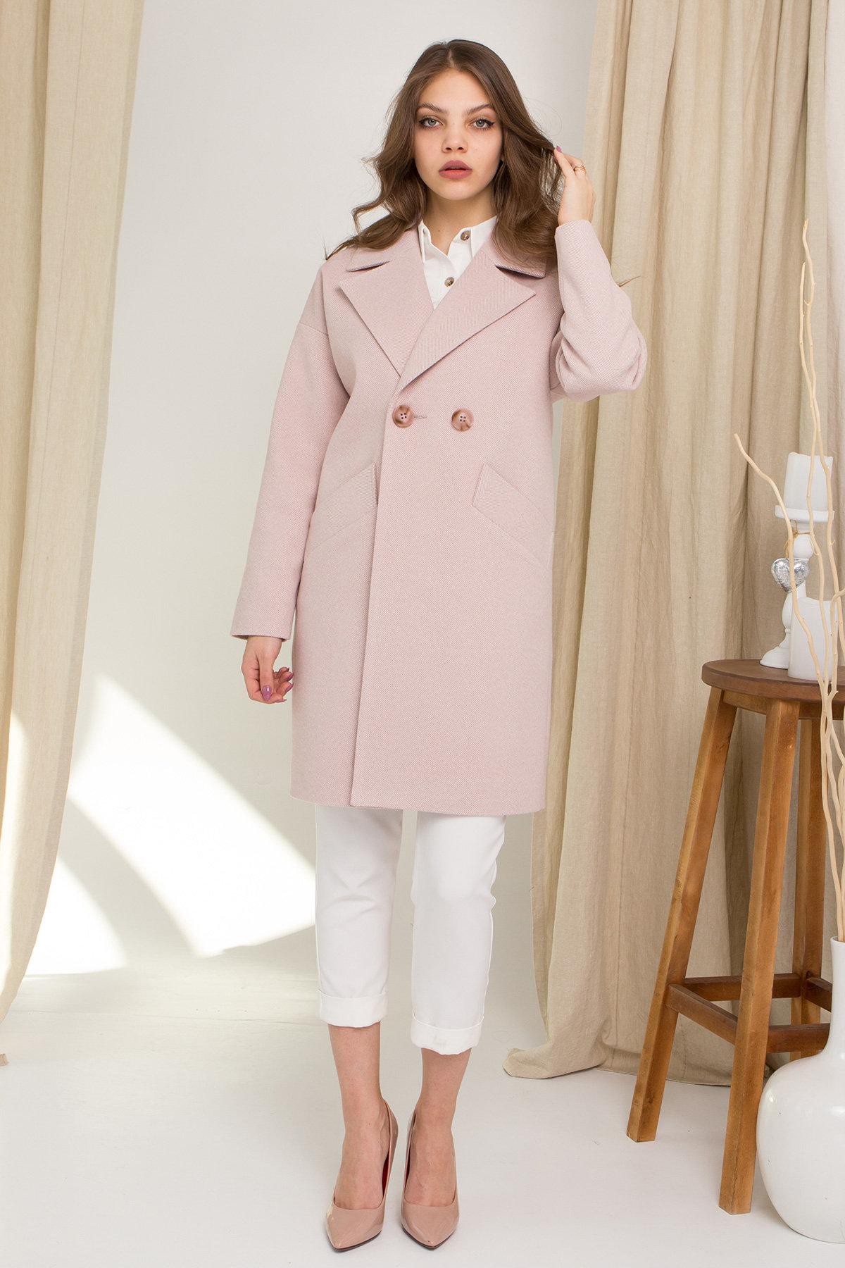 Пальто Сенсей 8905 АРТ. 45316 Цвет: Пудра 2 - фото 1, интернет магазин tm-modus.ru