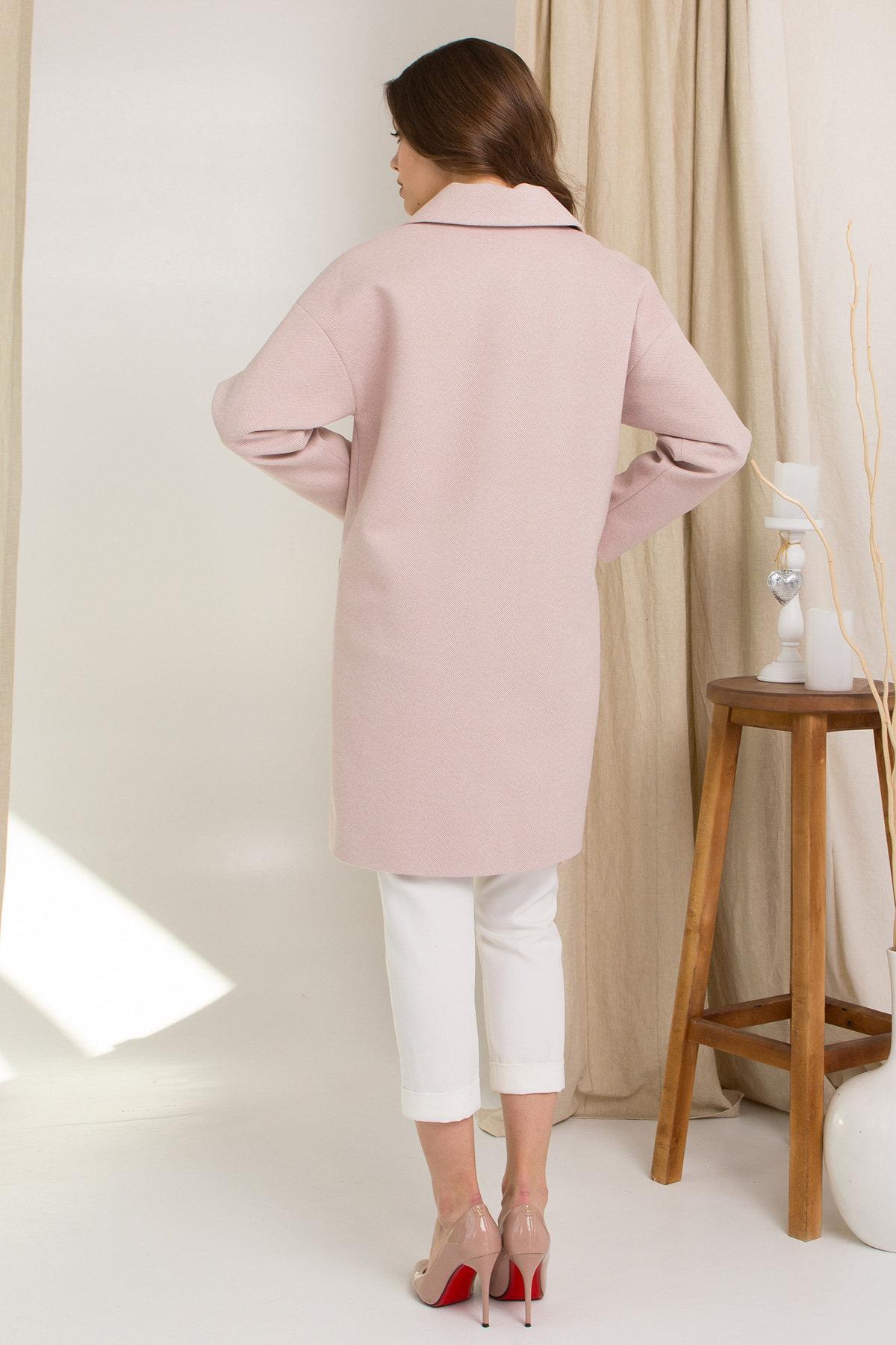 Пальто Сенсей 8905 АРТ. 45316 Цвет: Пудра 2 - фото 2, интернет магазин tm-modus.ru