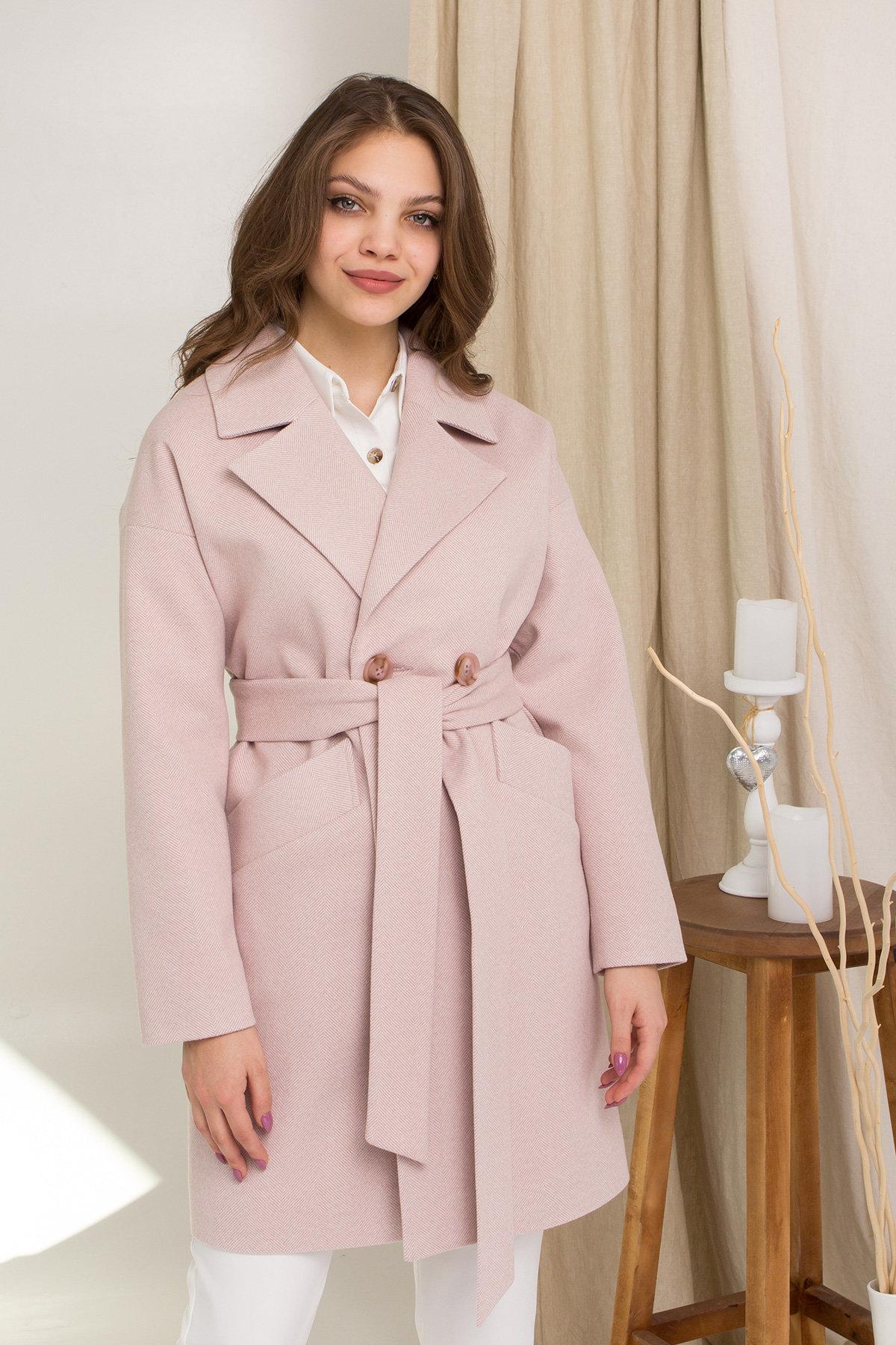 Пальто Сенсей 8905 АРТ. 45316 Цвет: Пудра 2 - фото 4, интернет магазин tm-modus.ru