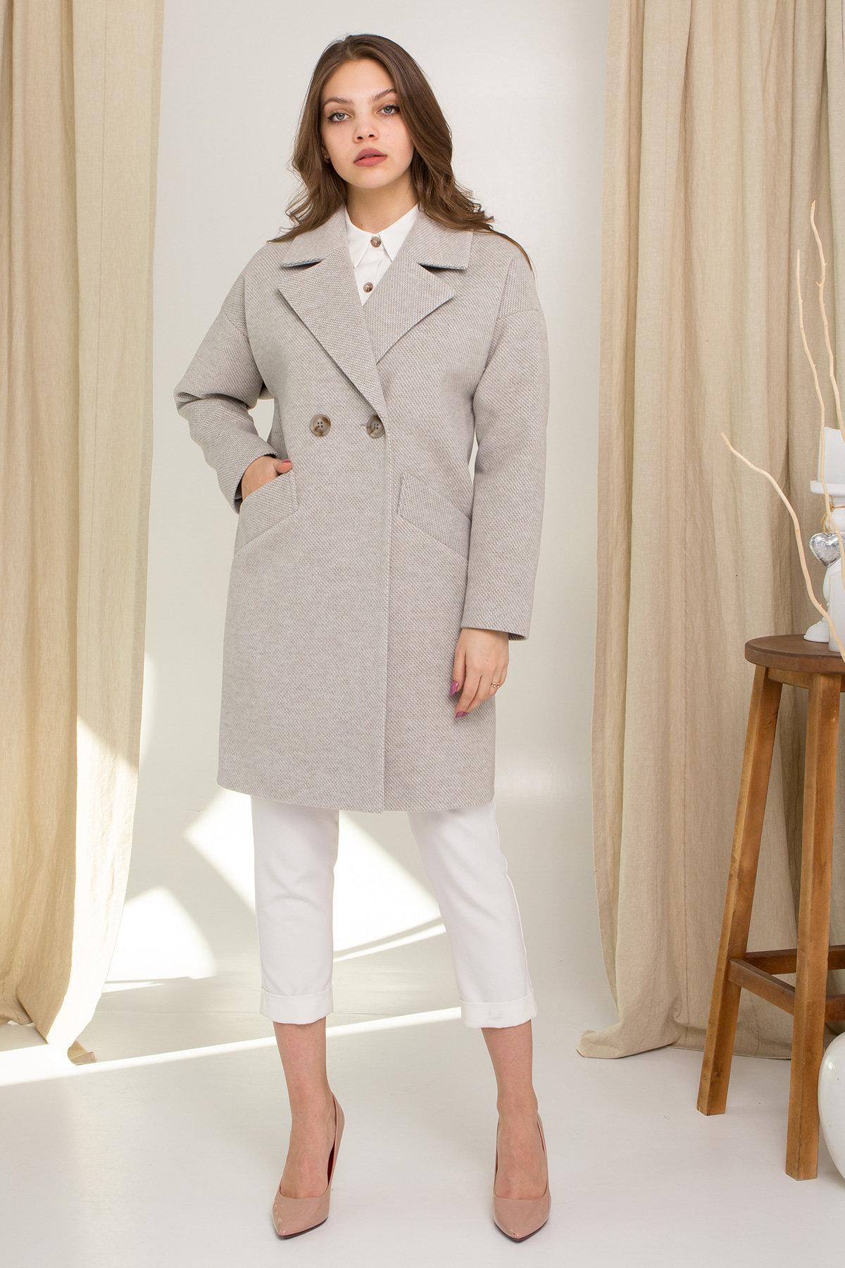 Демисезонное двубортное пальто Сенсей 8845 АРТ. 45218 Цвет: Олива - фото 2, интернет магазин tm-modus.ru