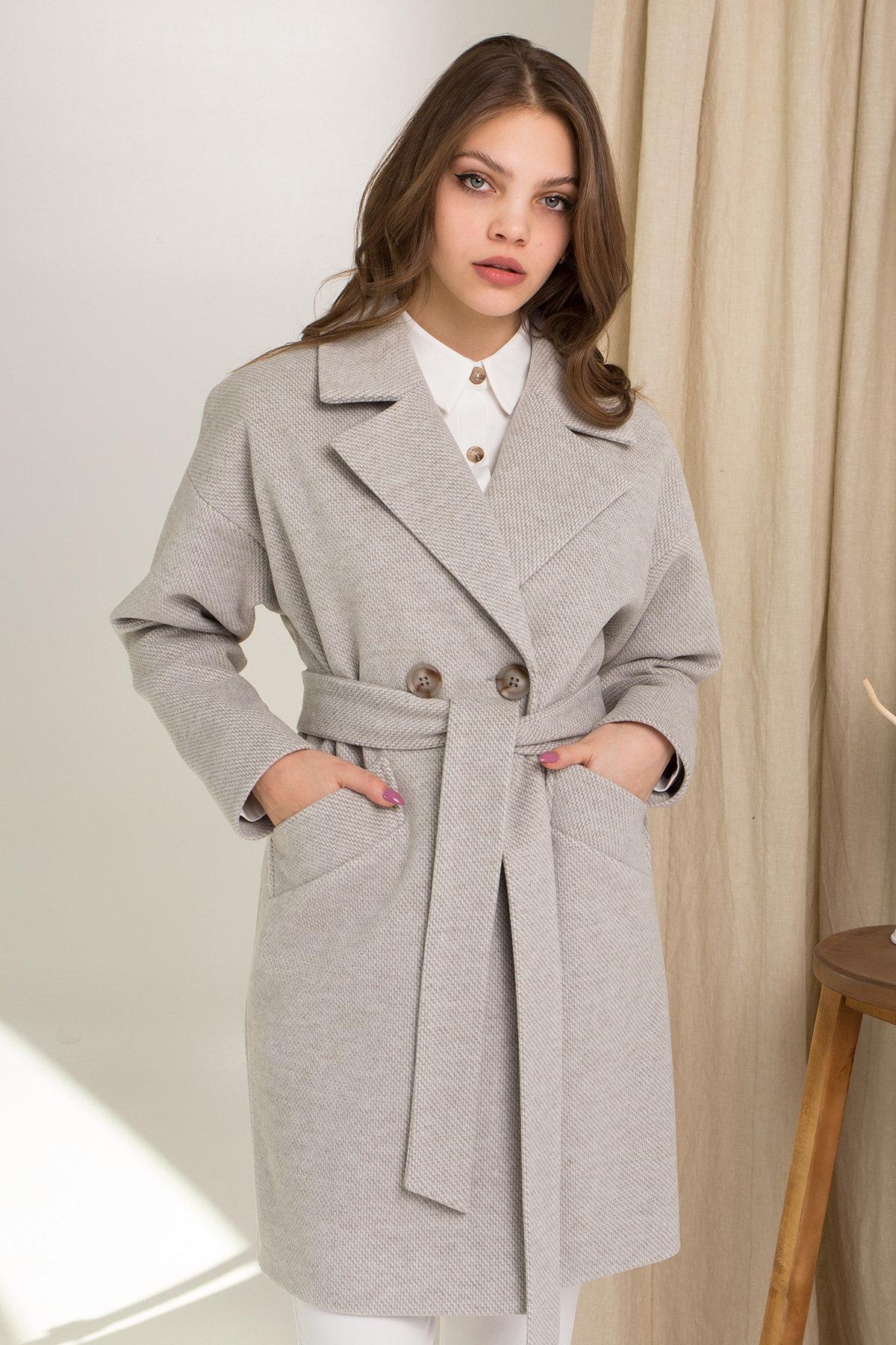 Демисезонное двубортное пальто Сенсей 8845 АРТ. 45218 Цвет: Олива - фото 8, интернет магазин tm-modus.ru