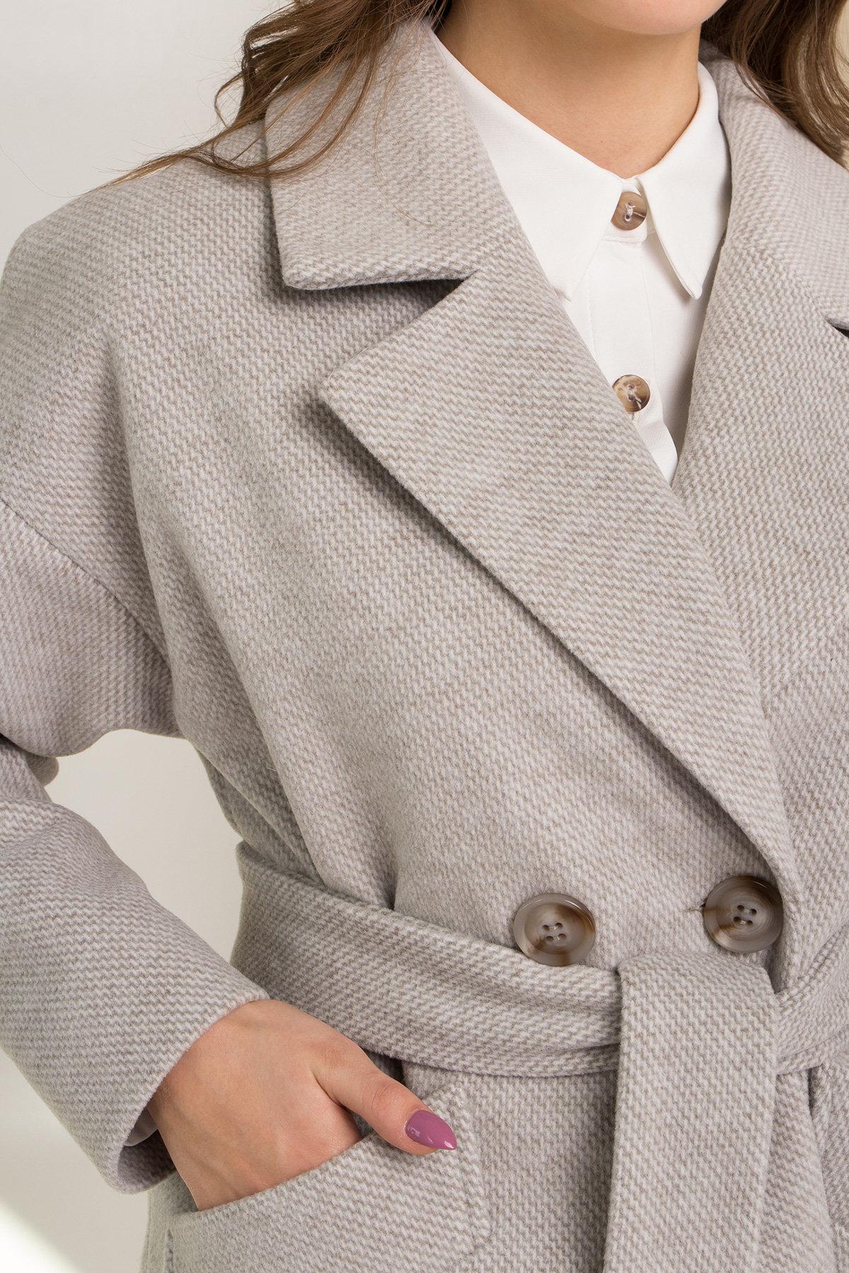 Демисезонное двубортное пальто Сенсей 8845 АРТ. 45218 Цвет: Олива - фото 10, интернет магазин tm-modus.ru