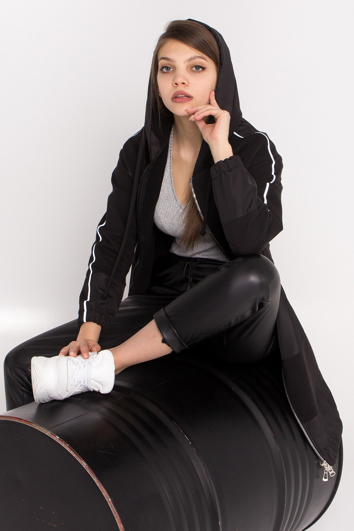 Кардиган Турбо 9065 АРТ. 45387 Цвет: Черный - фото 2, интернет магазин tm-modus.ru