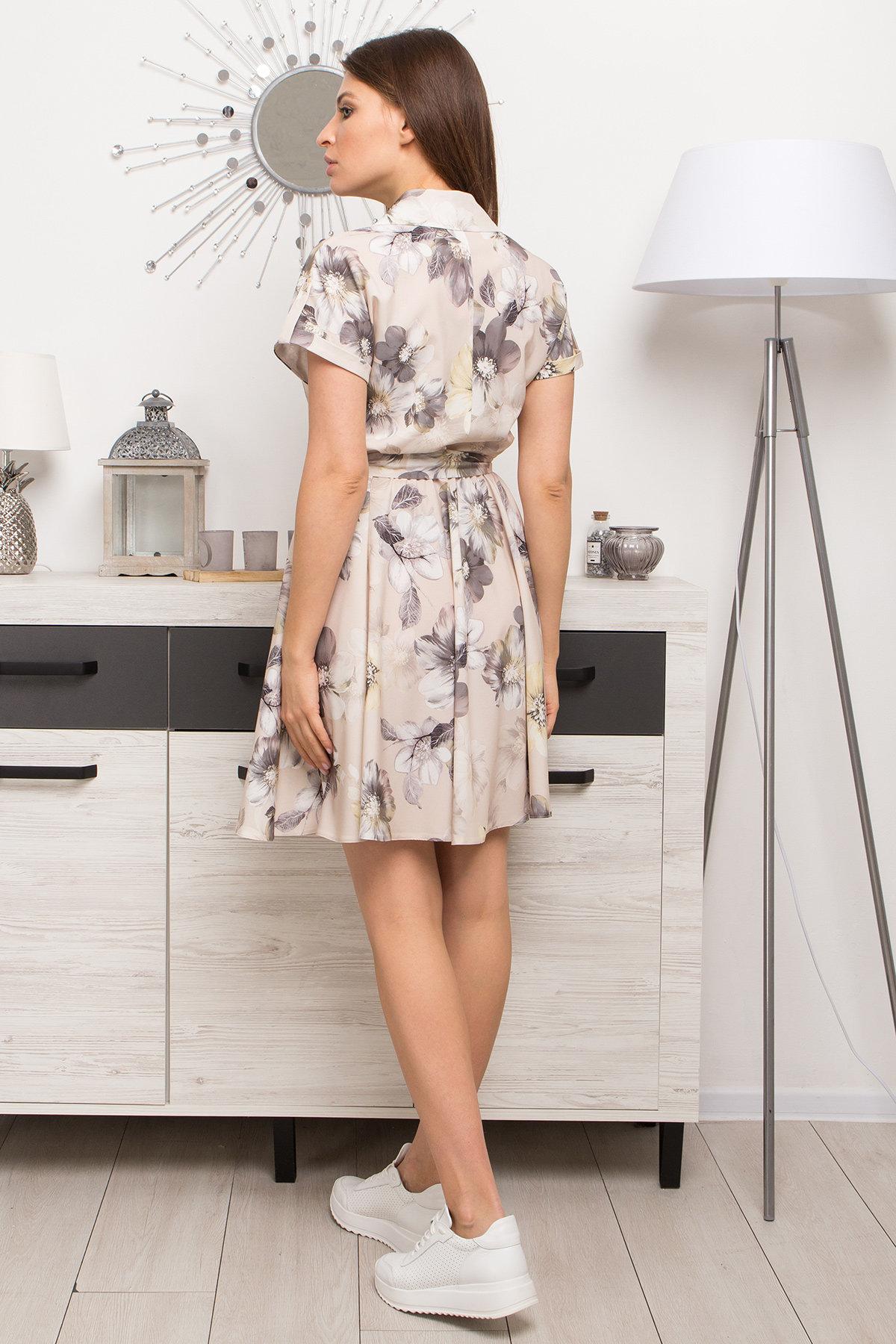 Платье Санжар 9095 АРТ. 45416 Цвет: Цветы кр беж/мол/охра - фото 5, интернет магазин tm-modus.ru