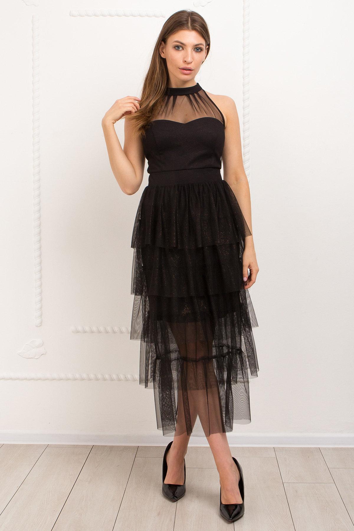 Платье Романа 9016 АРТ. 45344 Цвет: Черный/золото - фото 2, интернет магазин tm-modus.ru