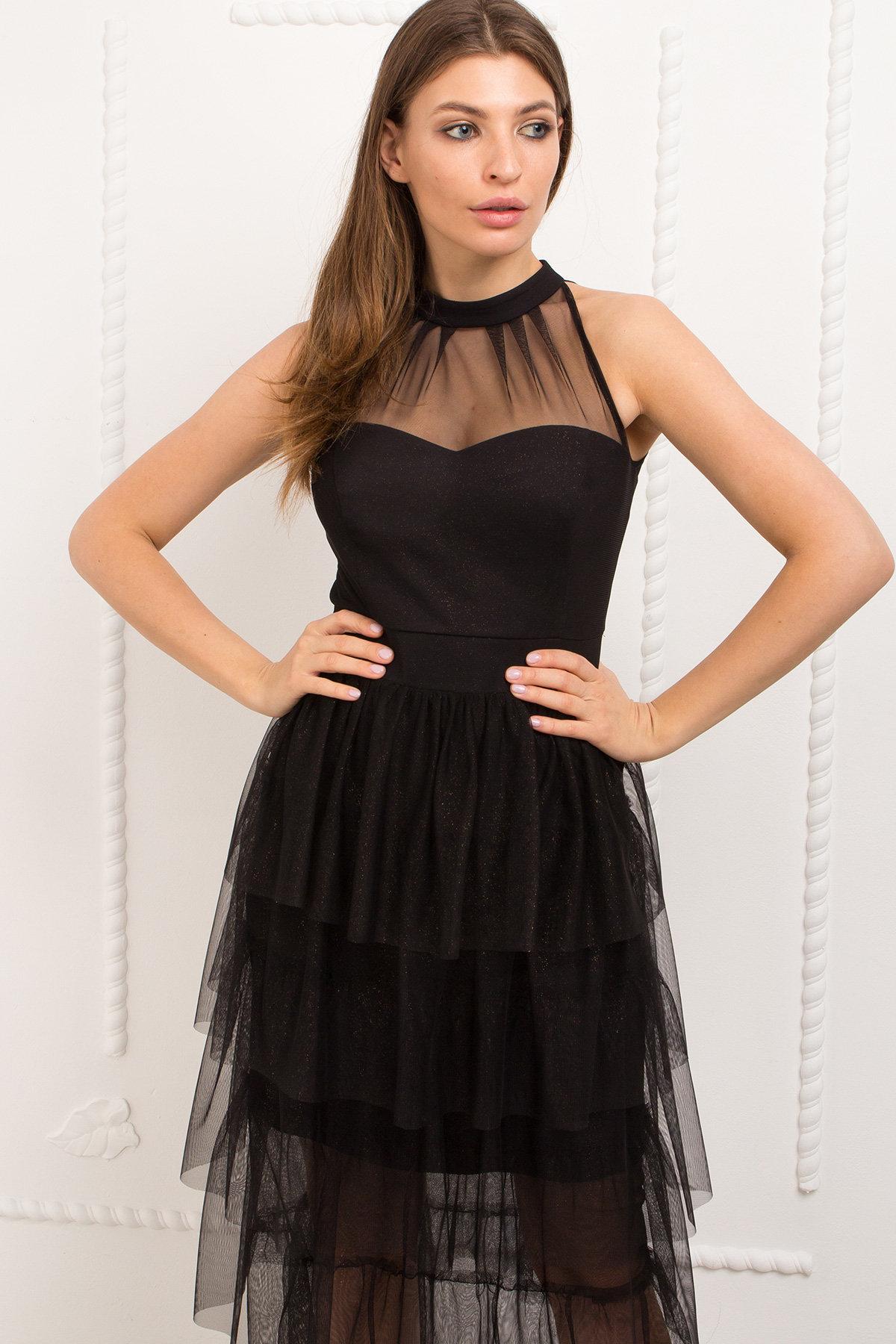 Платье Романа 9016 АРТ. 45344 Цвет: Черный/золото - фото 3, интернет магазин tm-modus.ru