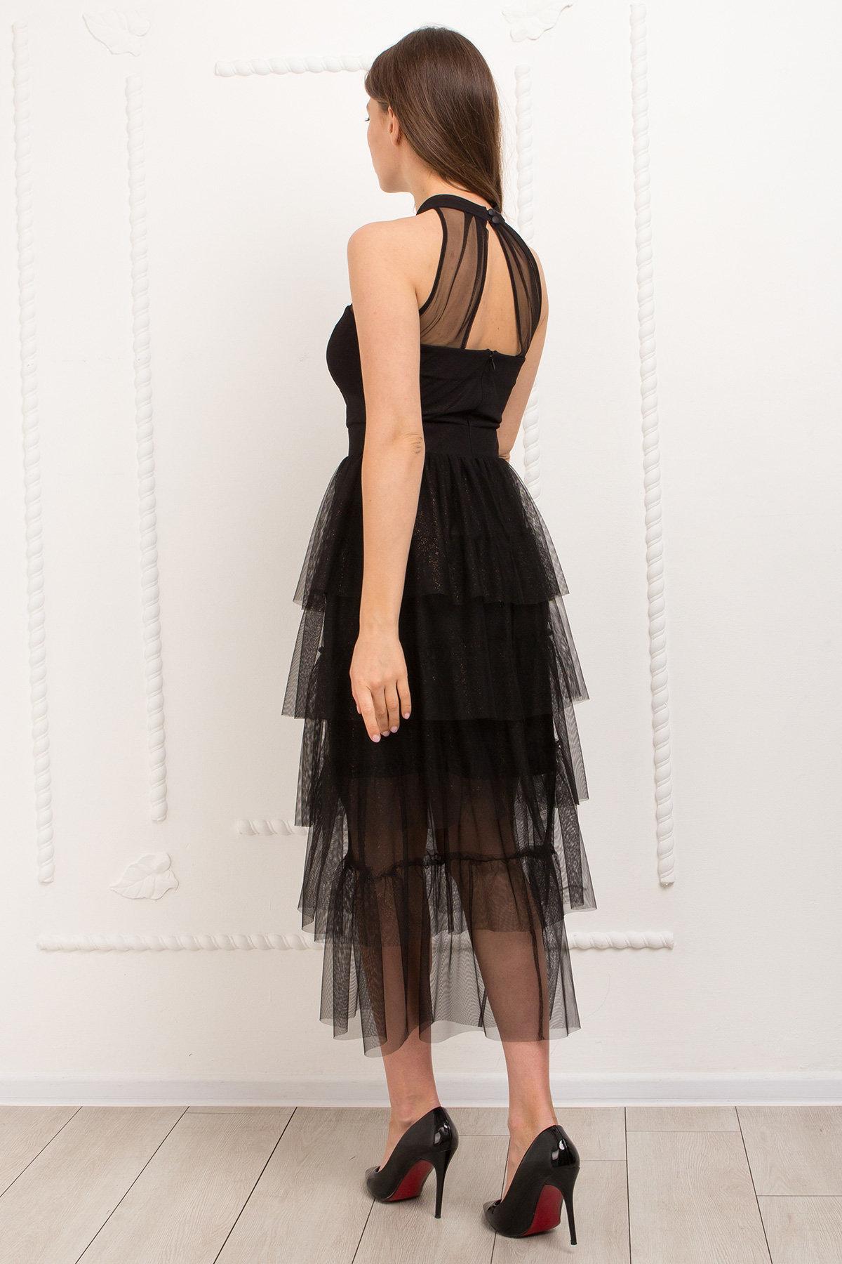 Платье Романа 9016 АРТ. 45344 Цвет: Черный/золото - фото 5, интернет магазин tm-modus.ru